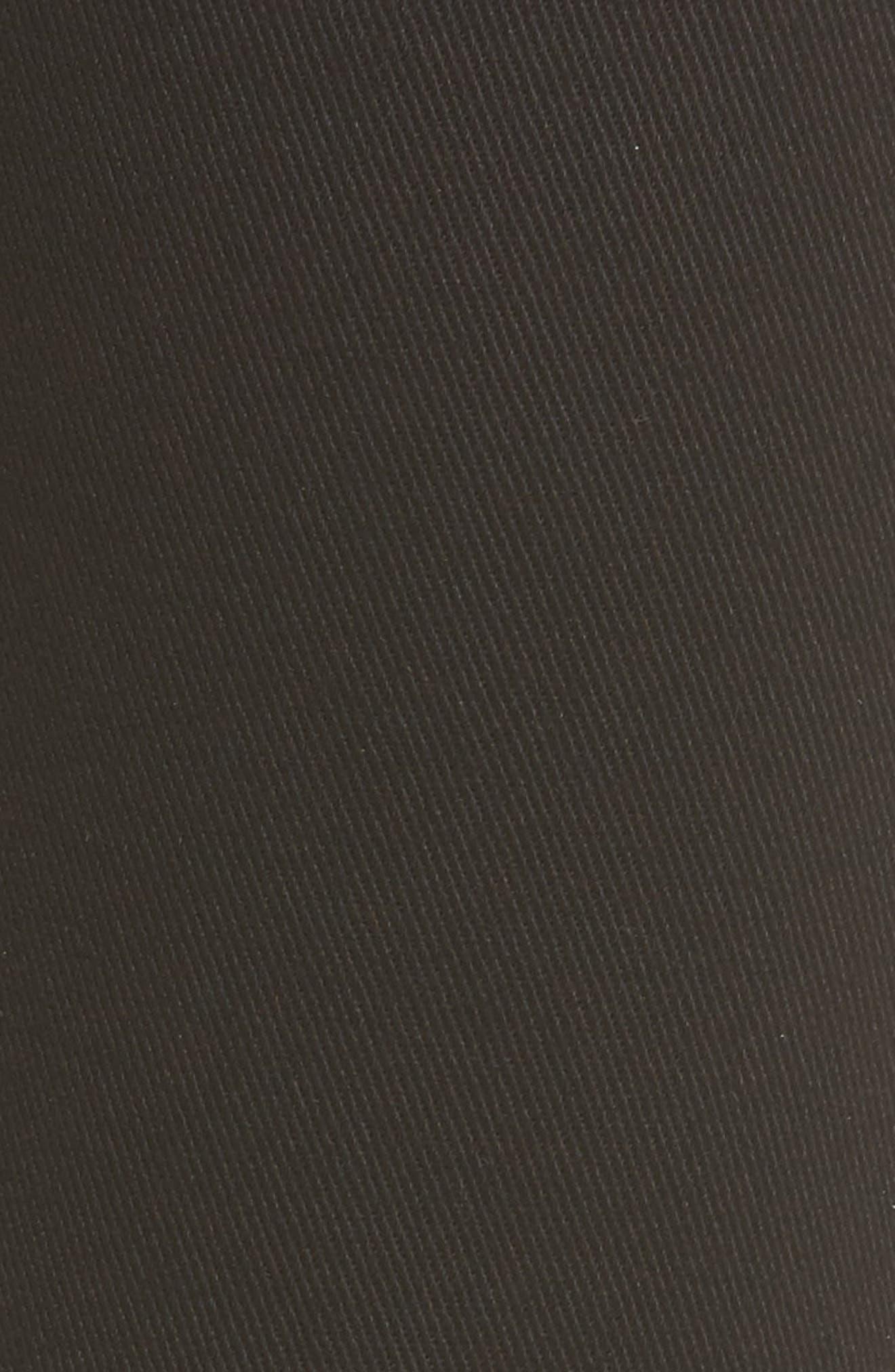 Emma Side Zip Skinny Jeans,                             Alternate thumbnail 5, color,                             Black