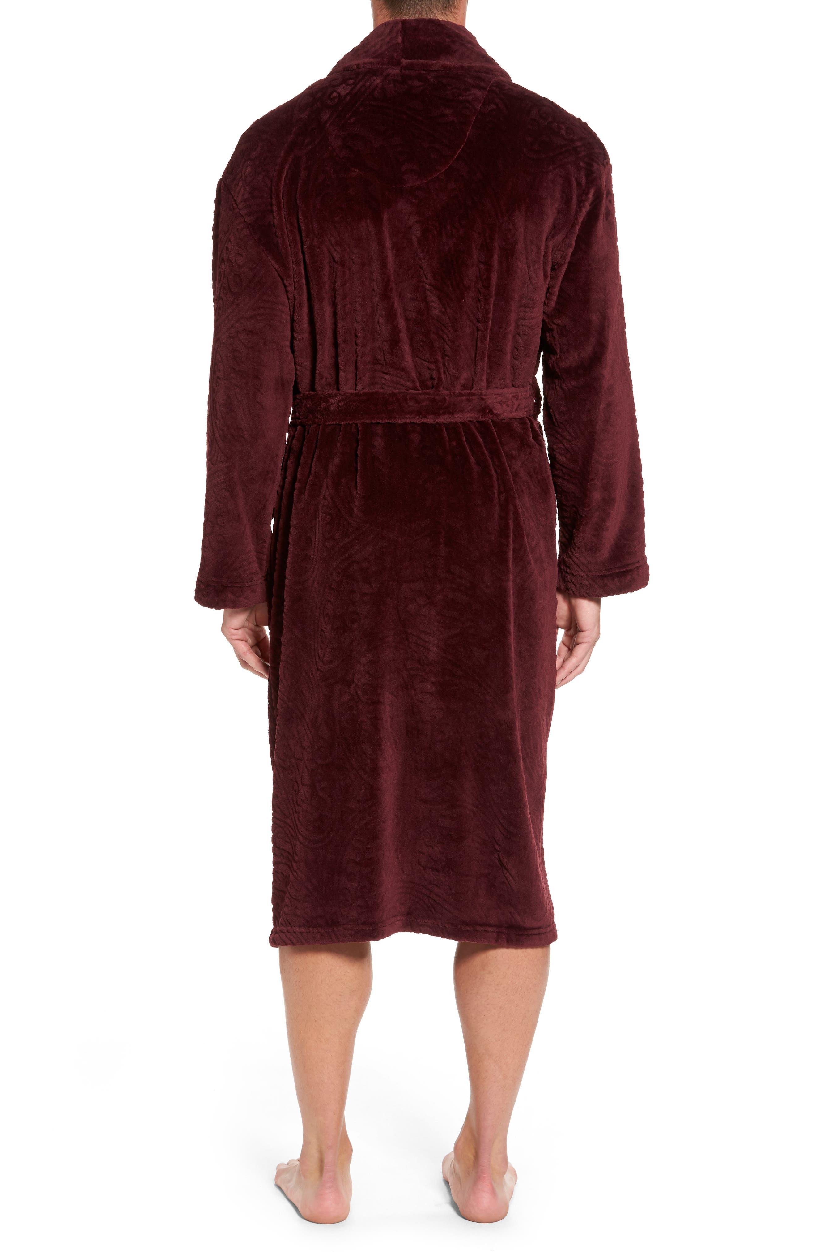 Midtown Robe,                             Alternate thumbnail 2, color,                             Burgundy Paisley