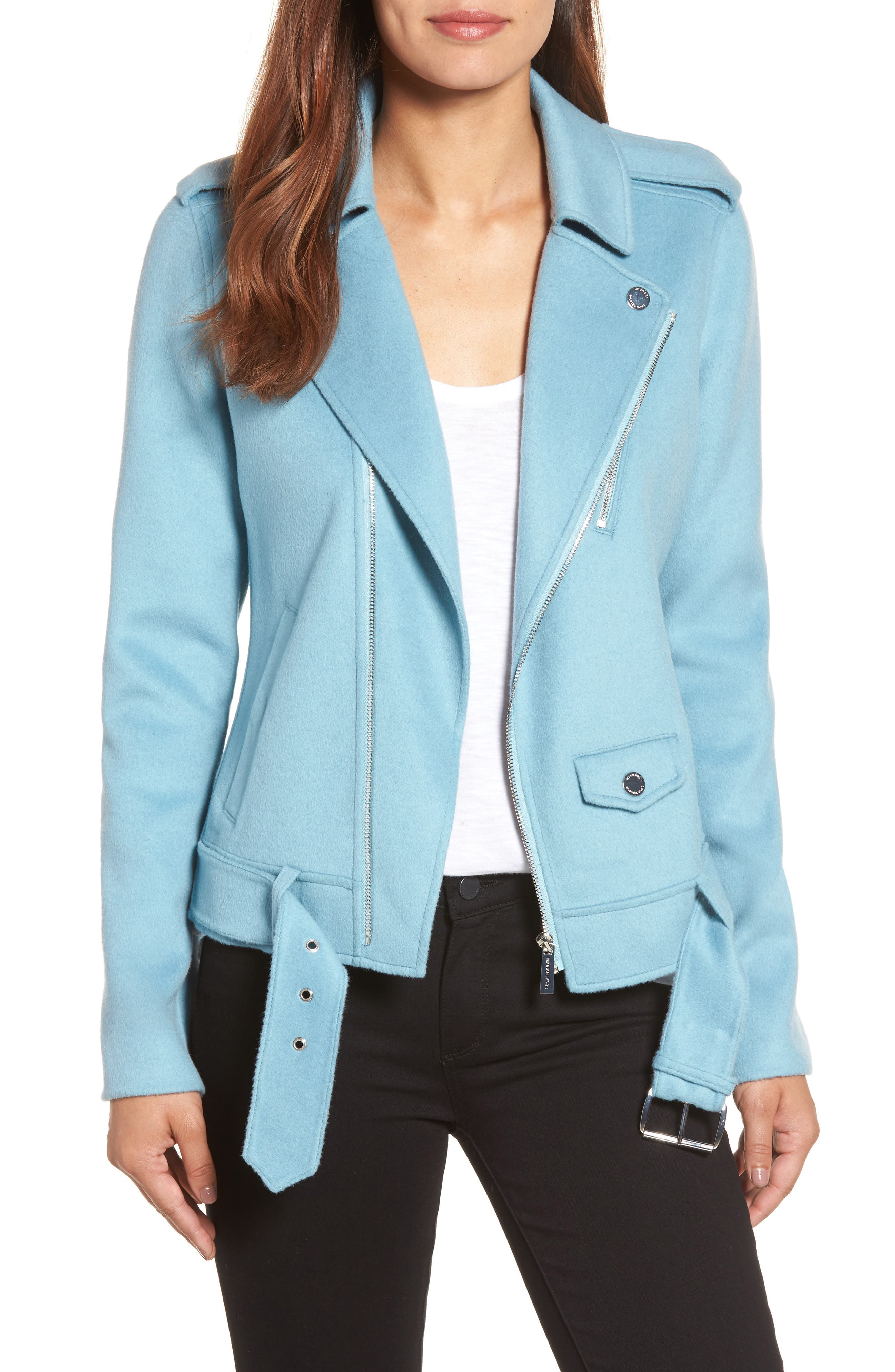 MICHAEL Michael Kors Wool Blend Moto Jacket (Regular & Petite)
