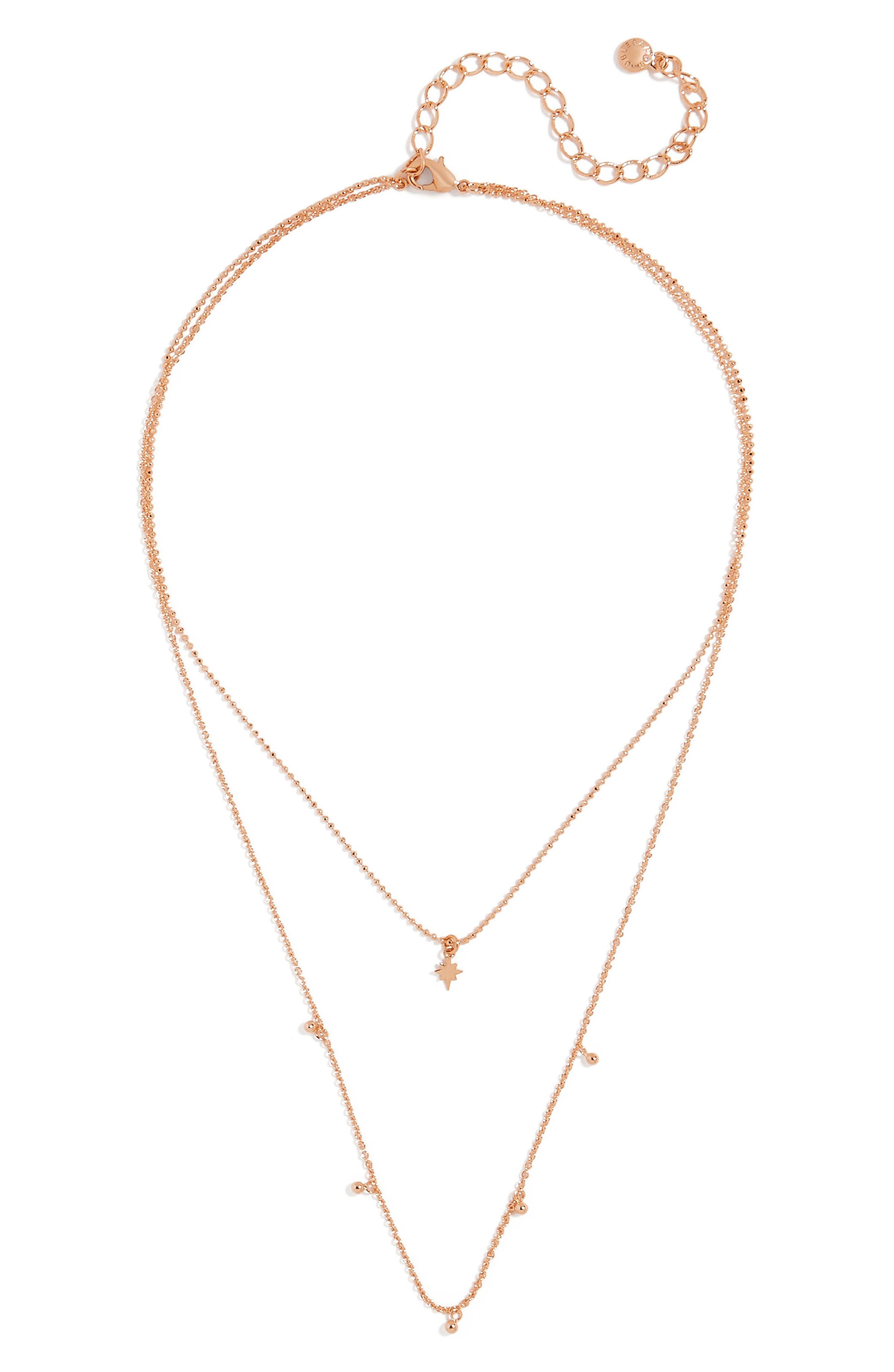 Multistrand Necklace,                         Main,                         color, Rose Gold