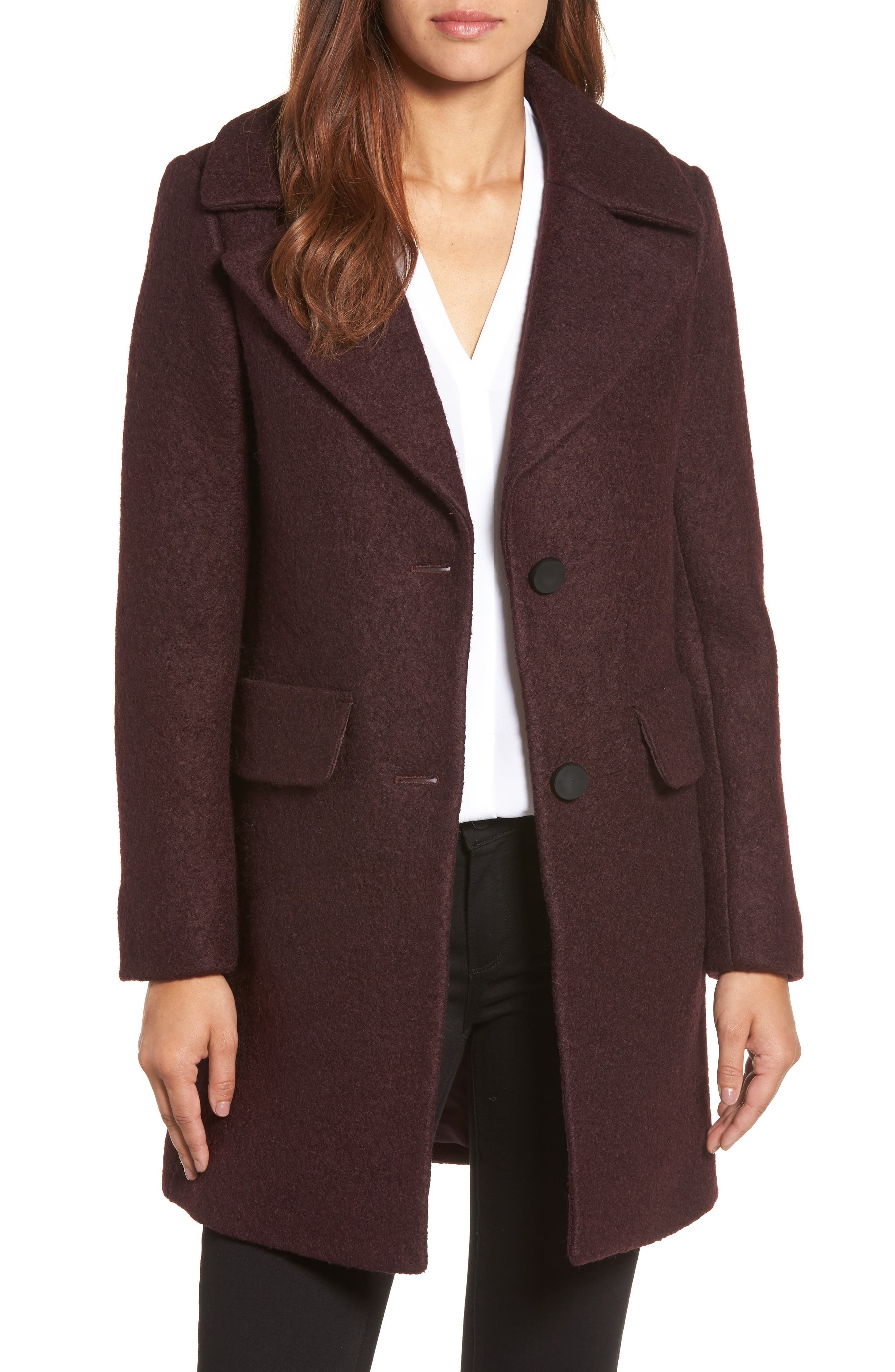 Alternate Image 1 Selected - Kenneth Cole New York Wool Blend Bouclé Coat