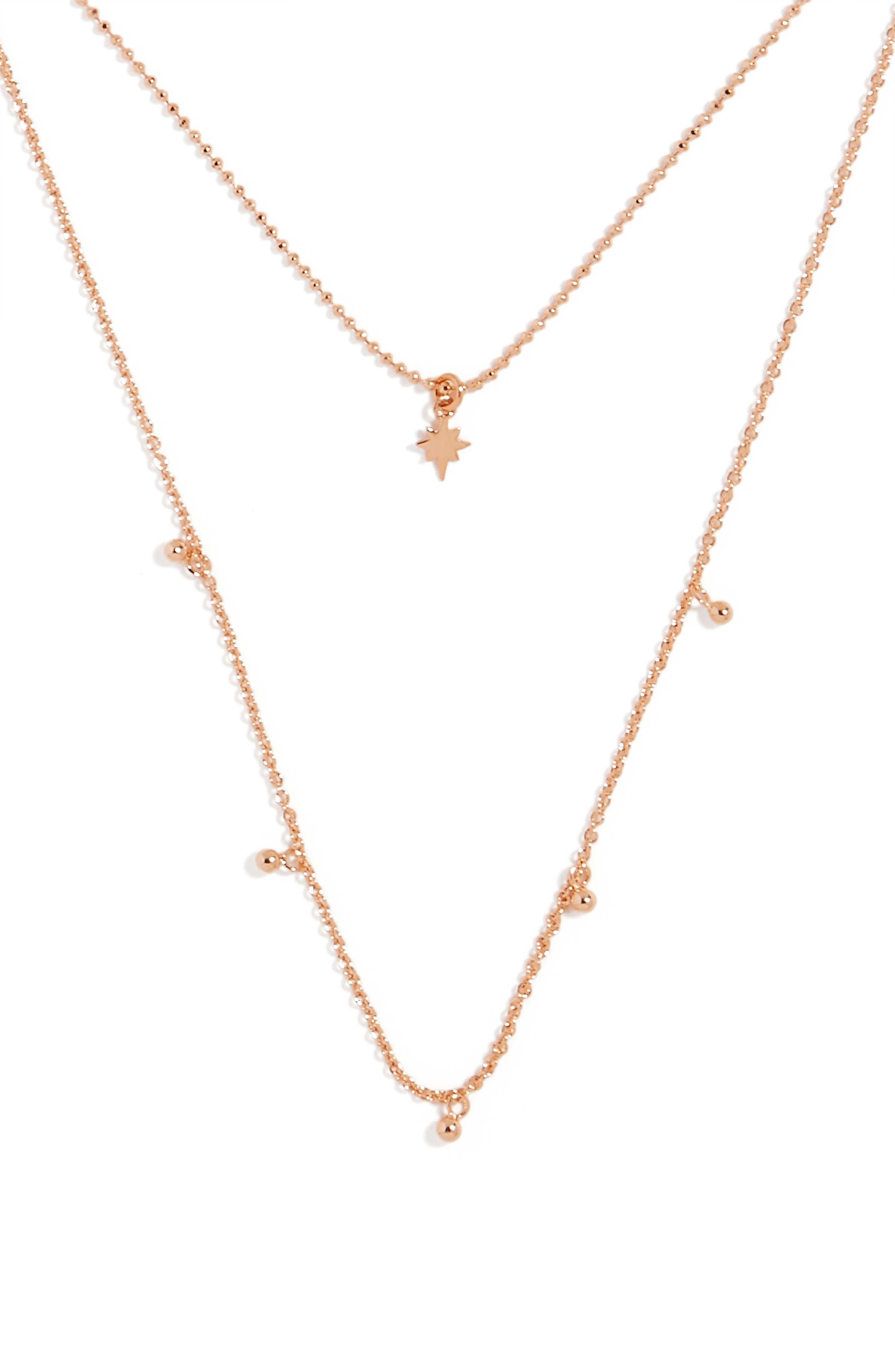 Multistrand Necklace,                             Alternate thumbnail 2, color,                             Rose Gold