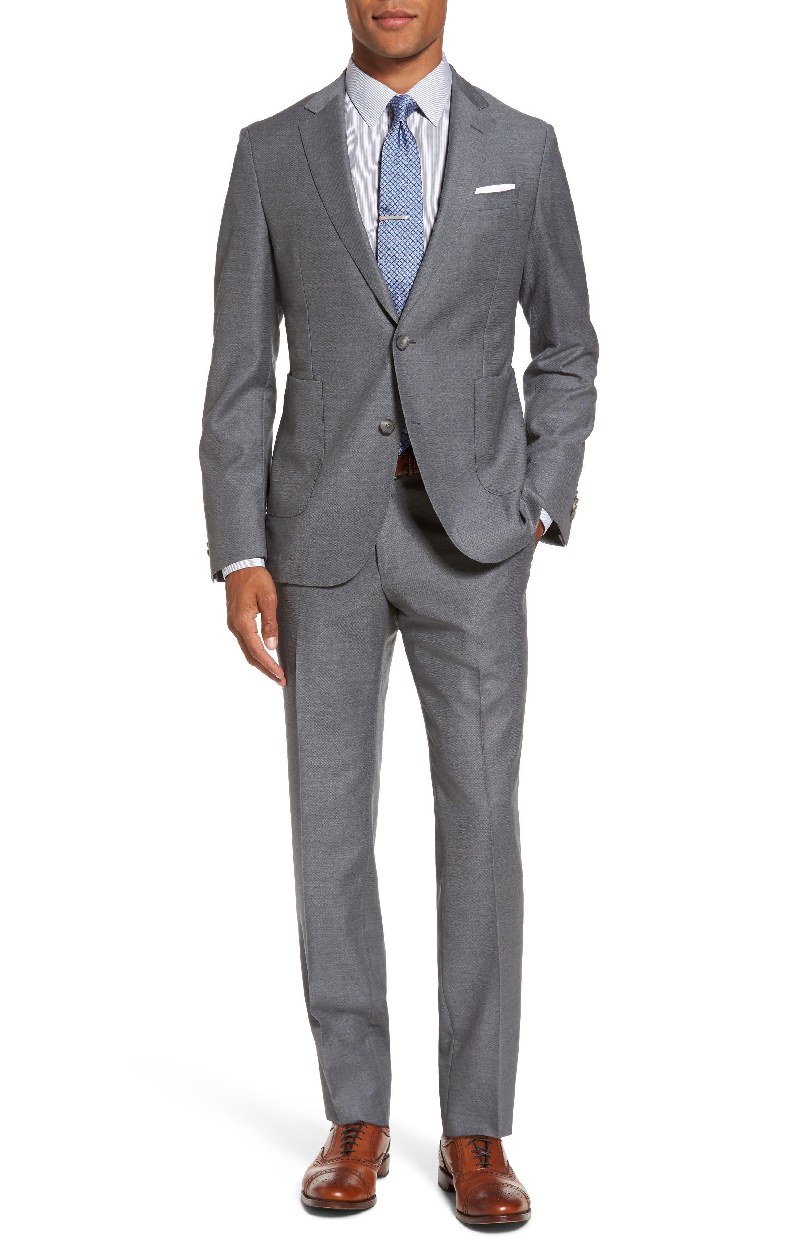 Novan/Ben Classic Fit Suit,                         Main,                         color, Medium Grey