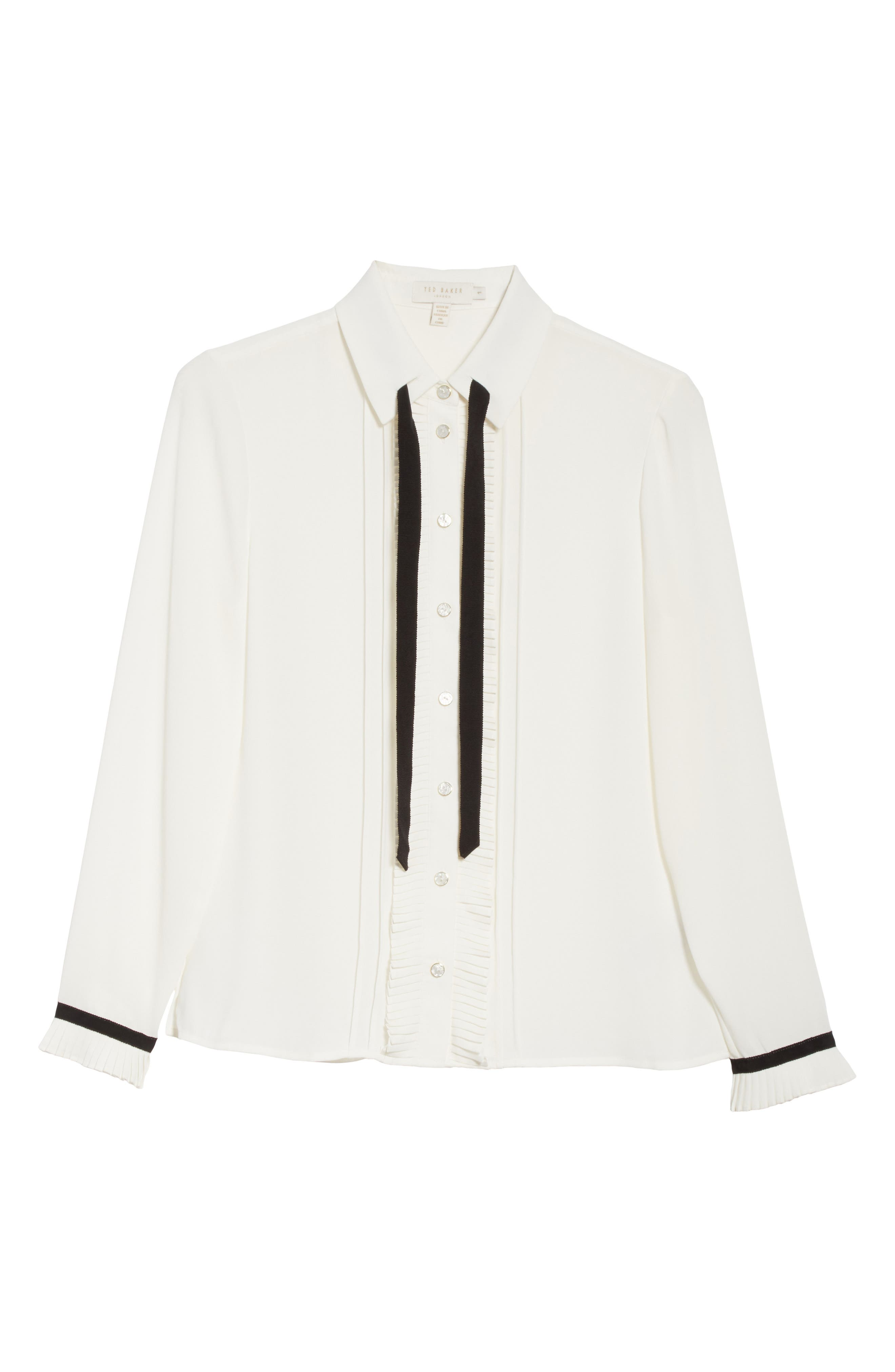 Alternate Image 7  - Ted Baker London Pleated Frill Tie Neck Shirt
