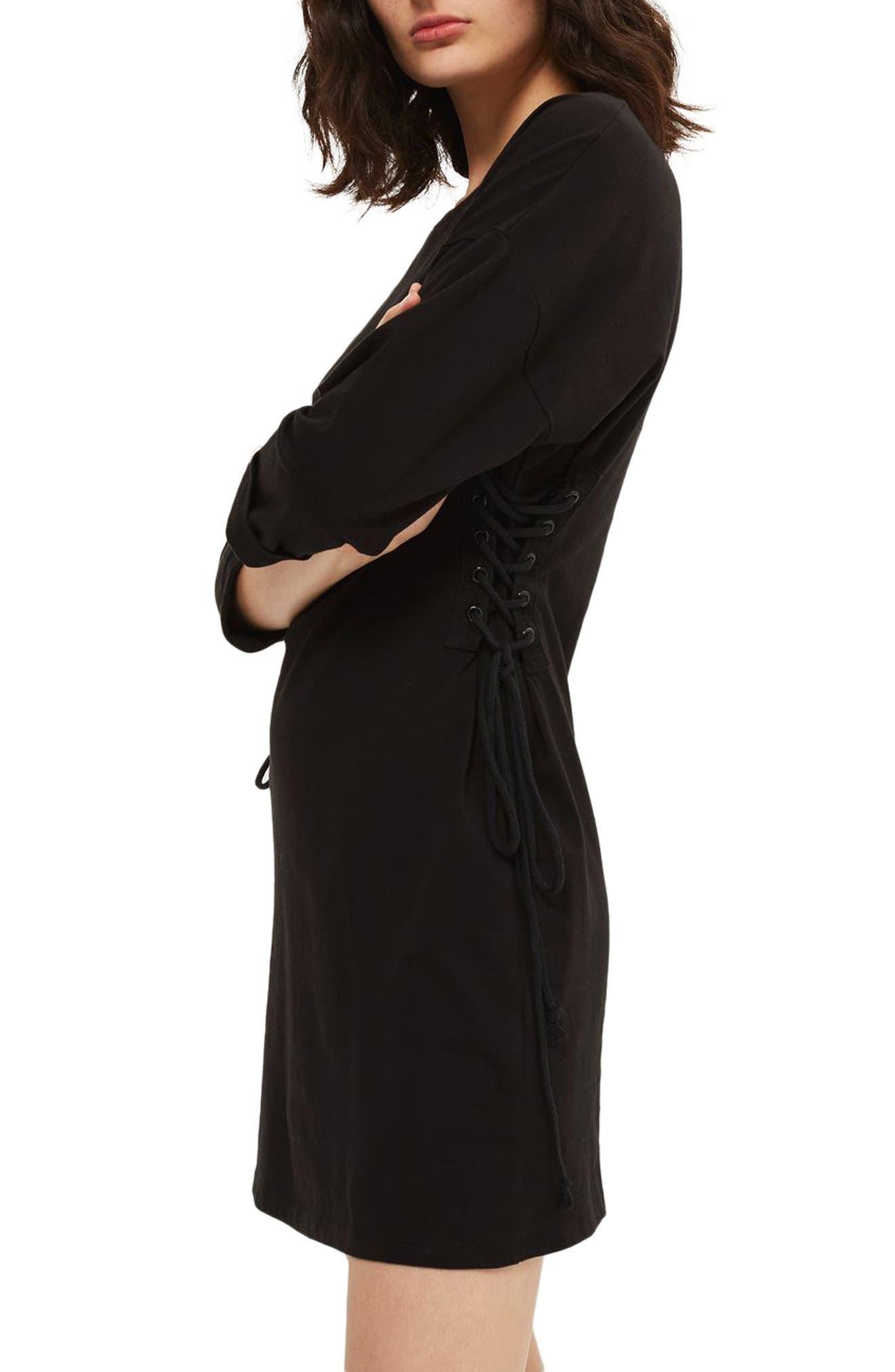 Alternate Image 3  - Topshop Lace-Up Side Tunic Dress