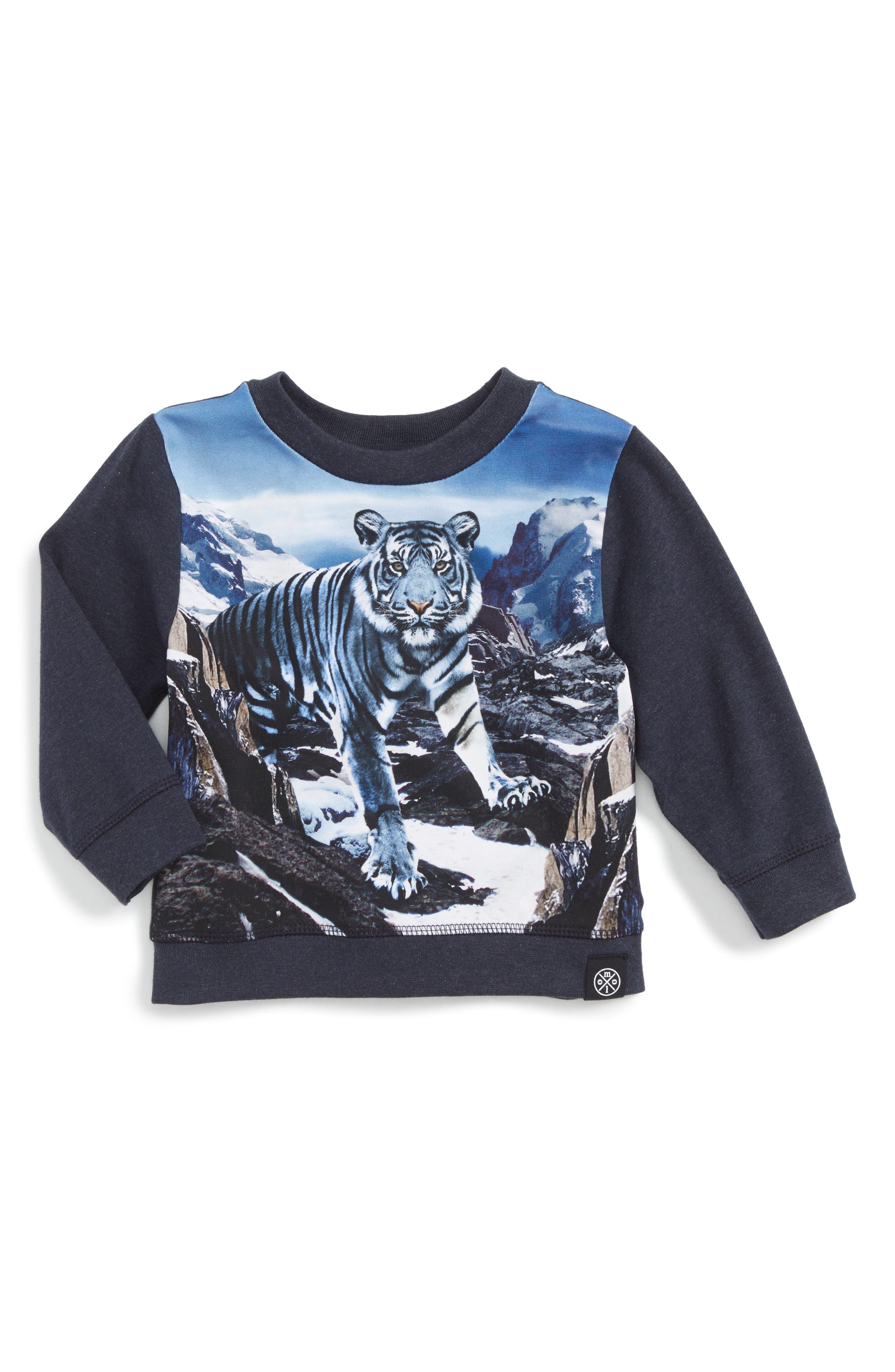 Tiger Graphic T-Shirt,                             Main thumbnail 1, color,                             Blue Mountains