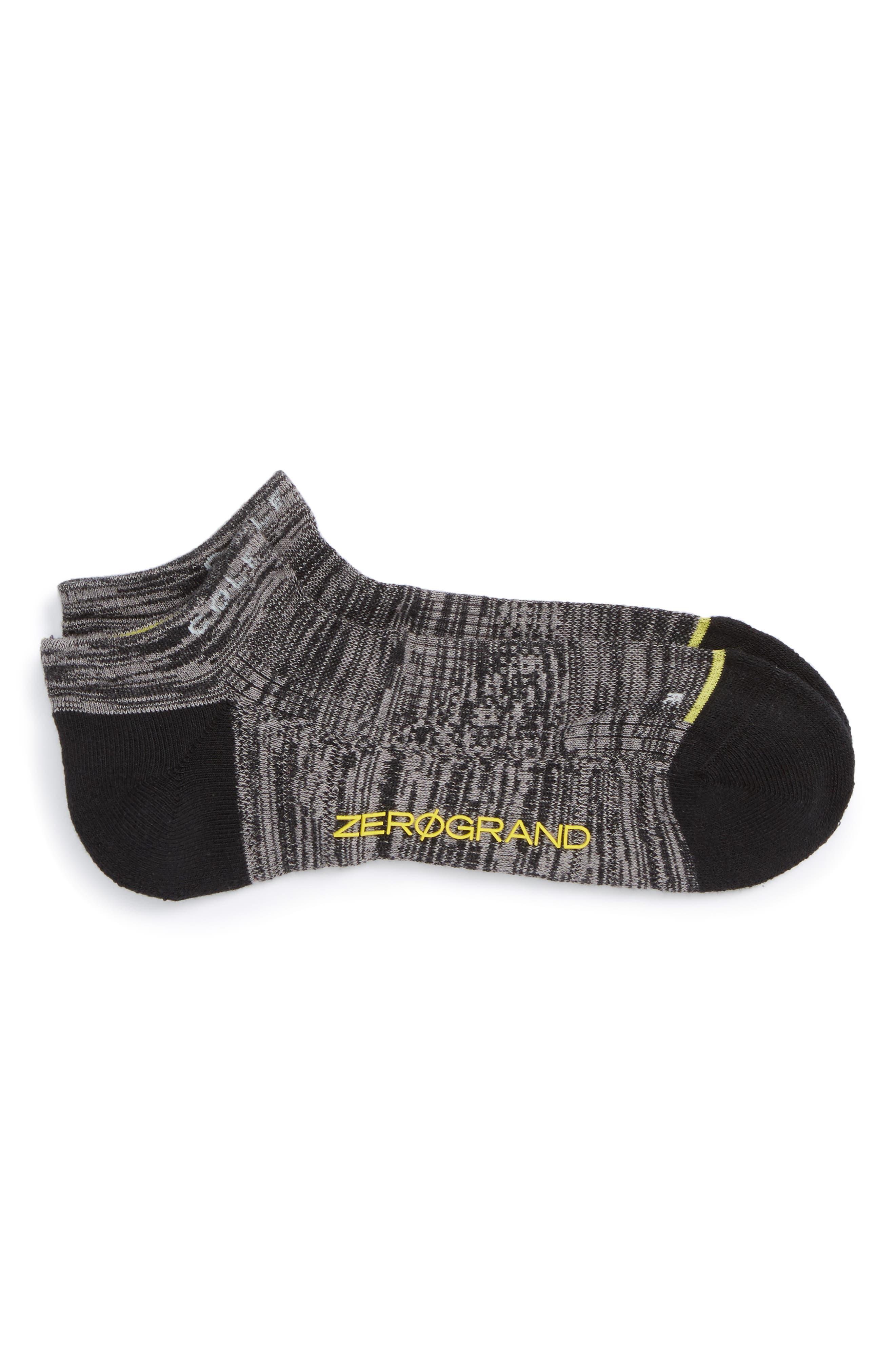 ZeroGrand Liner Socks,                         Main,                         color, Black