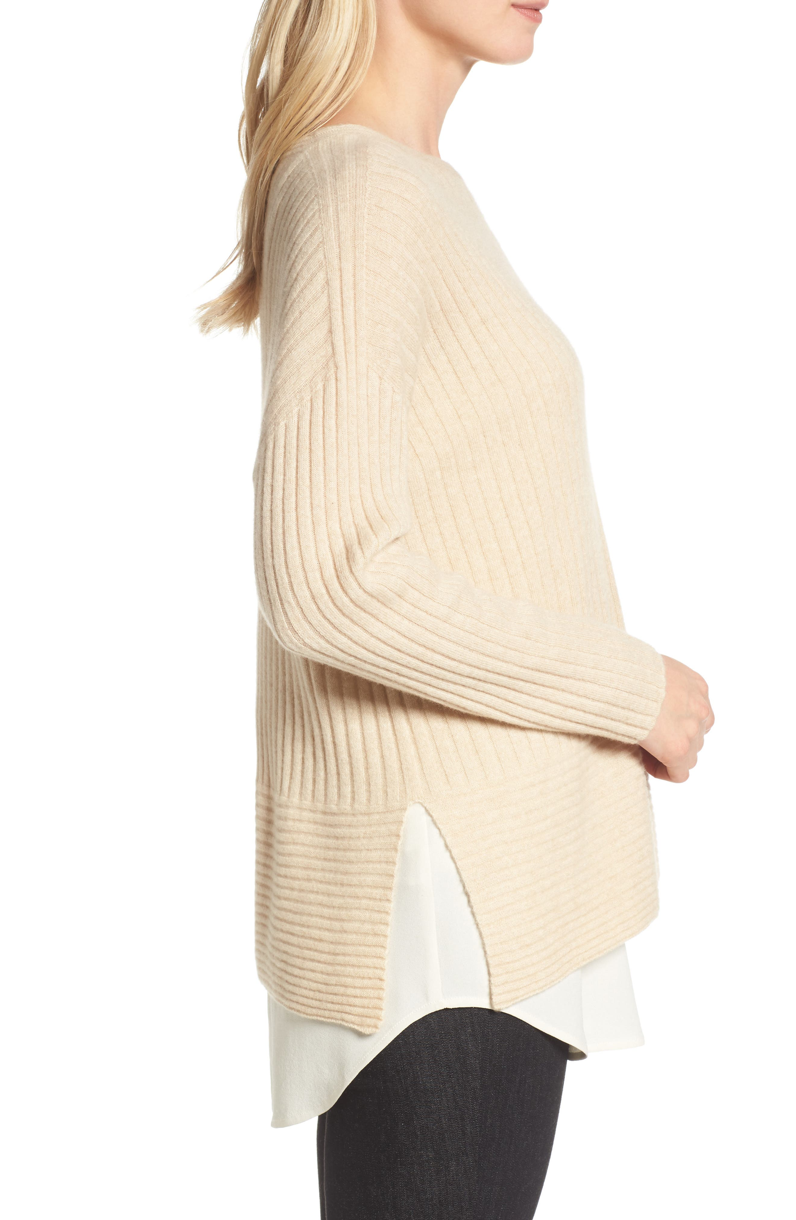 Alternate Image 3  - Eileen Fisher Ribbed Cashmere Sweater