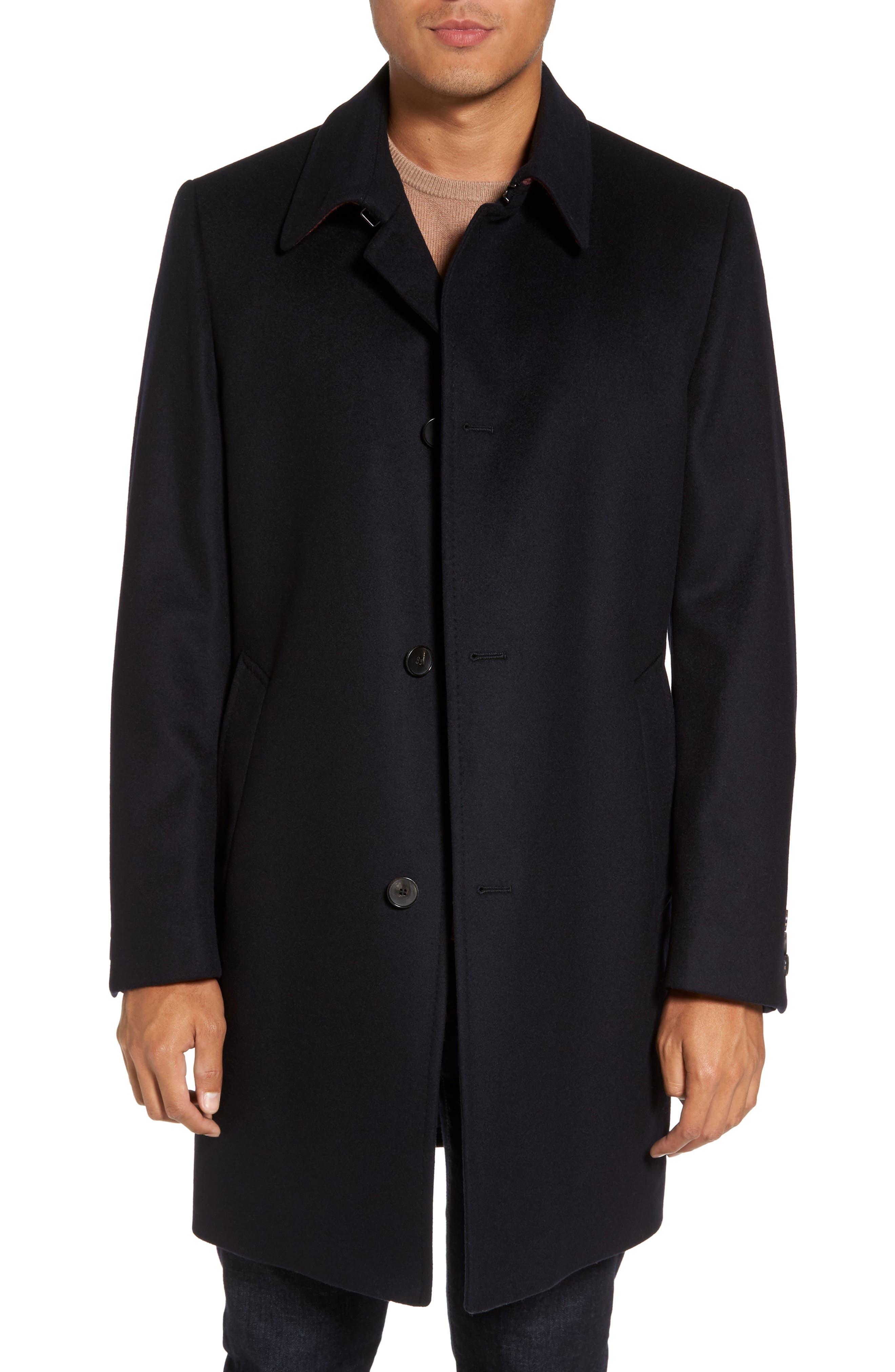 HUGO BOSS Task Wool & Cashmere Top Coat