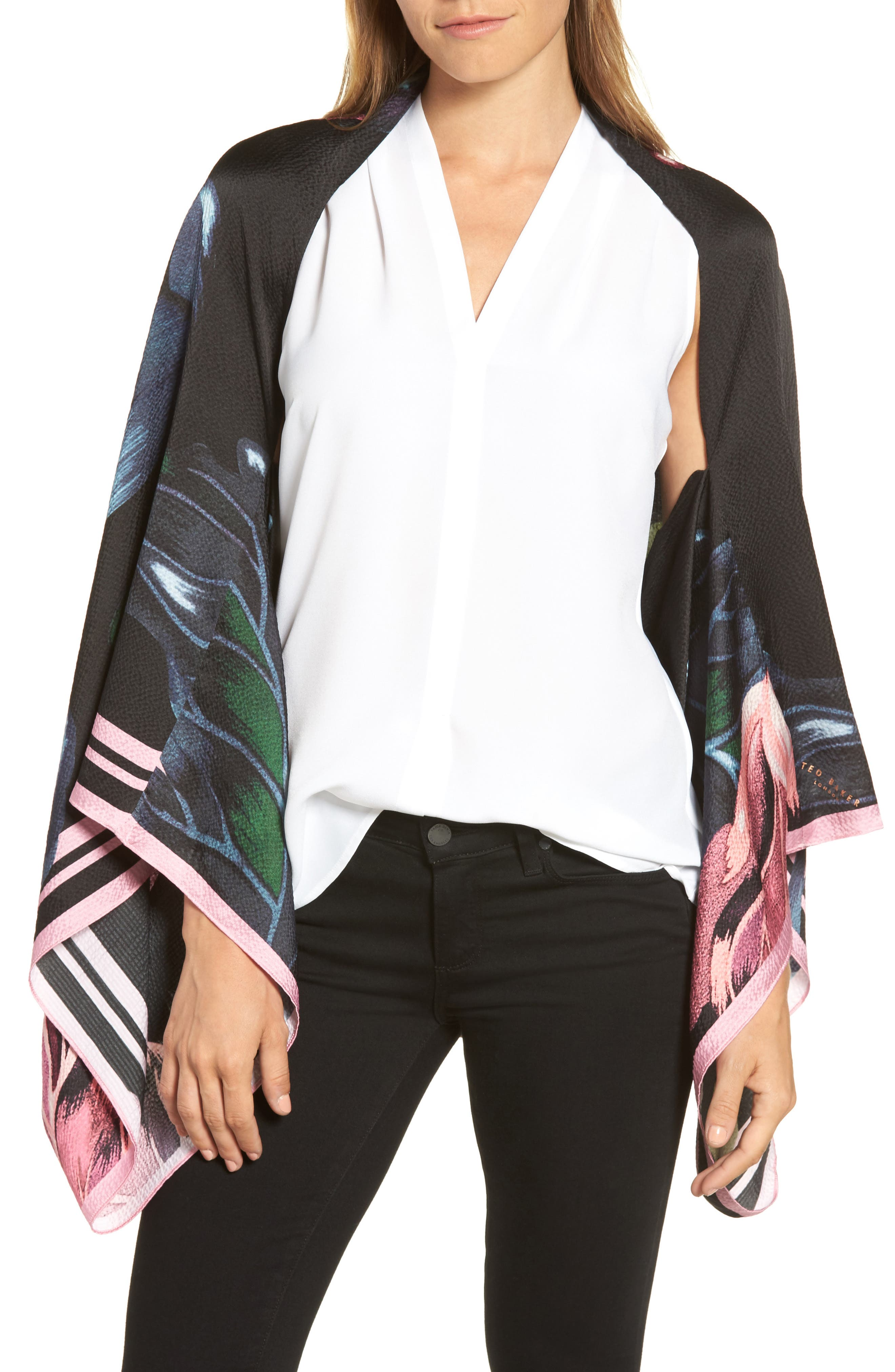 Main Image - Ted Baker London Eden Silk Cape Scarf