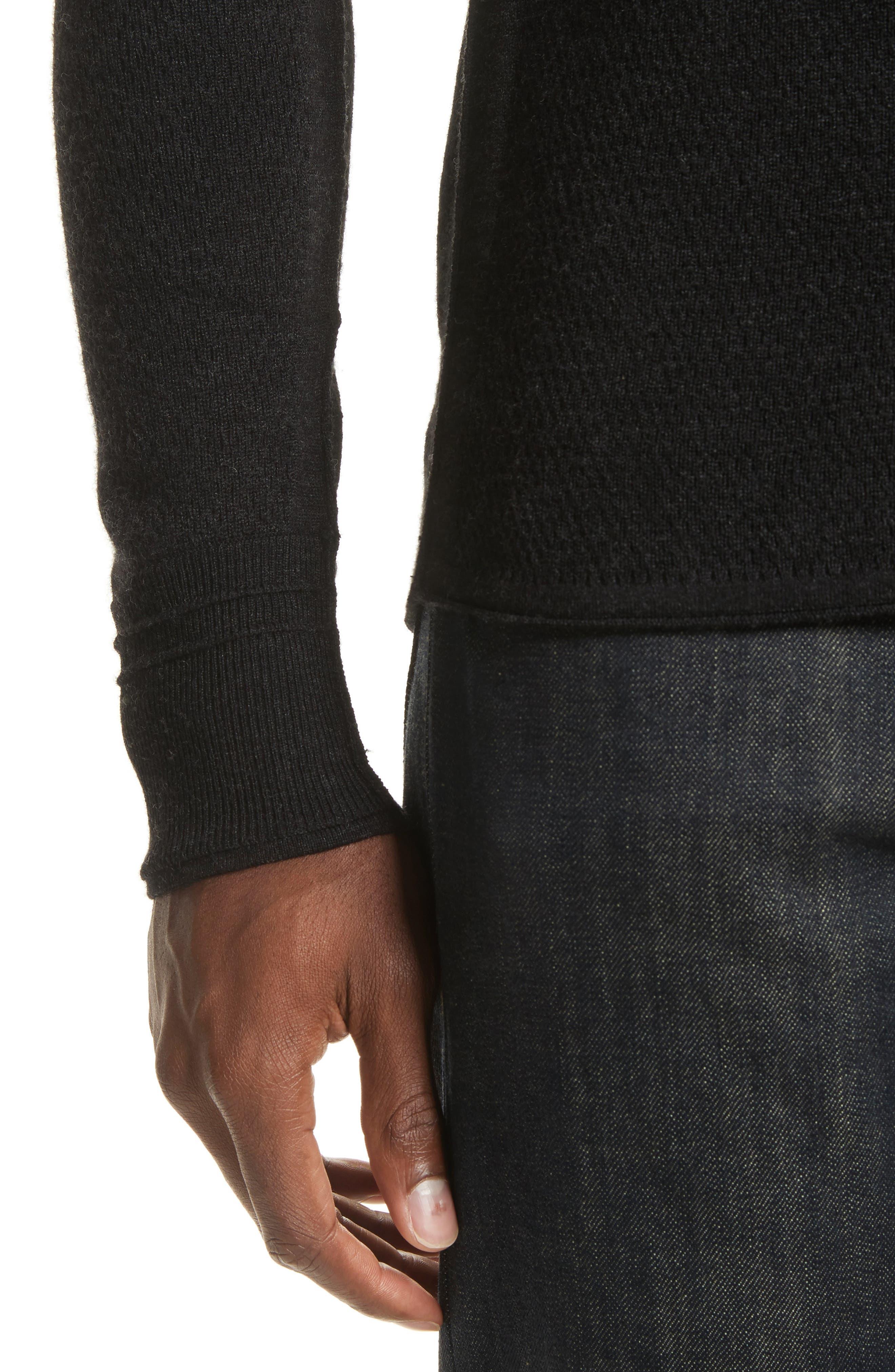 Gregory Crewneck Sweater,                             Alternate thumbnail 4, color,                             Black