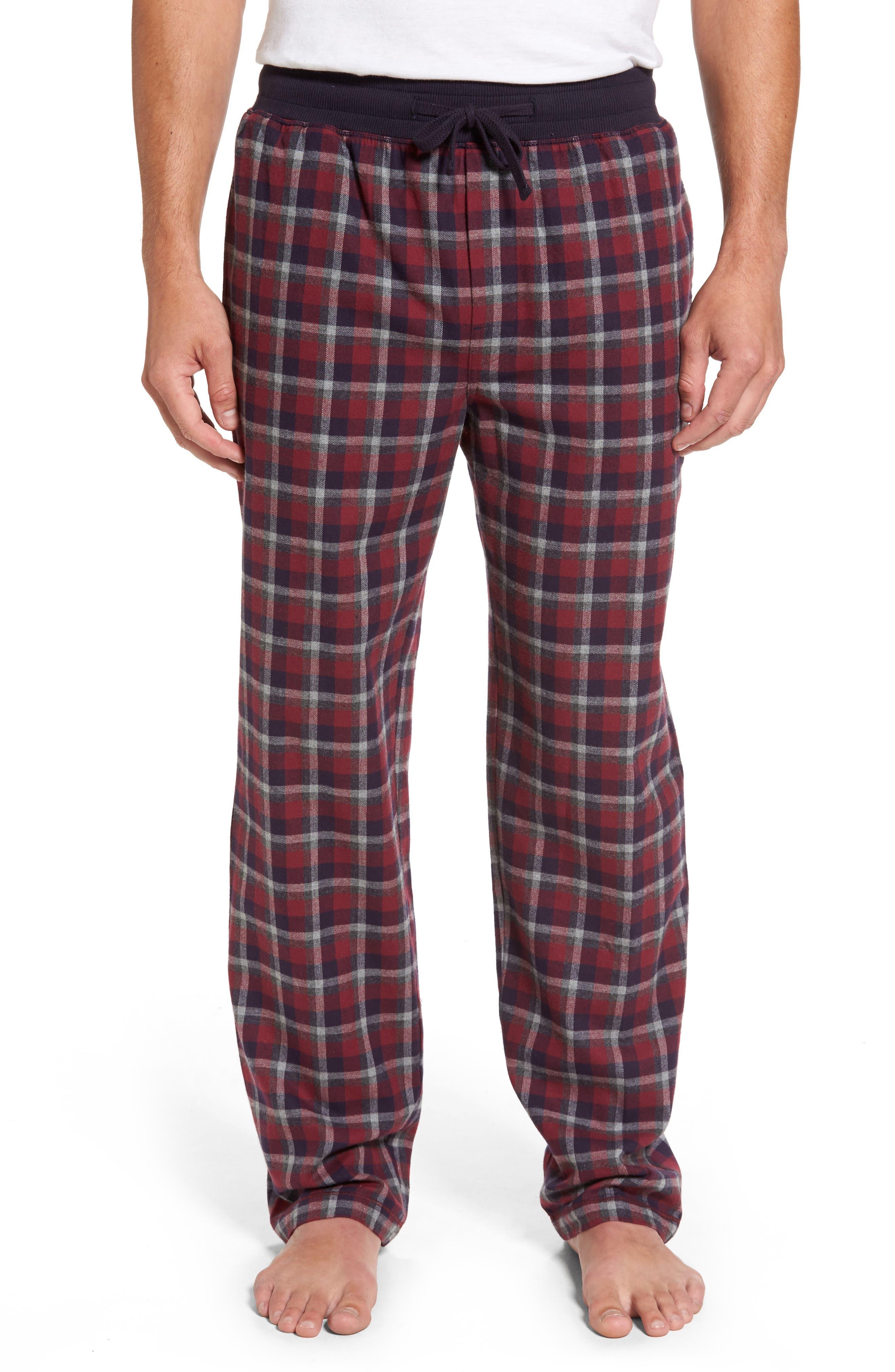 Majestic International Happy Camper Plaid Flannel Lounge Pants