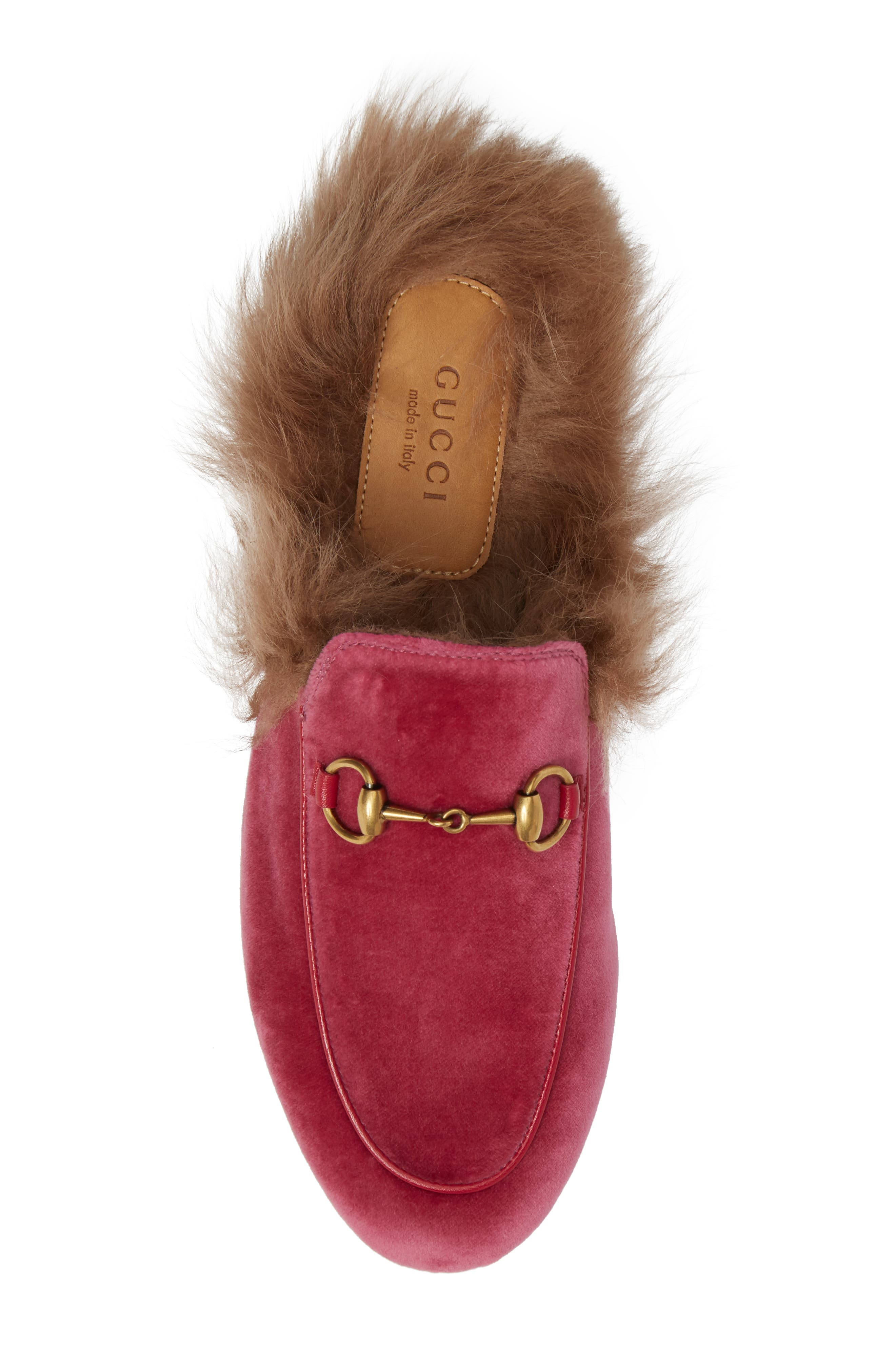 Alternate Image 5  - Gucci 'Princetown' Genuine Shearling Mule Loafer (Women)