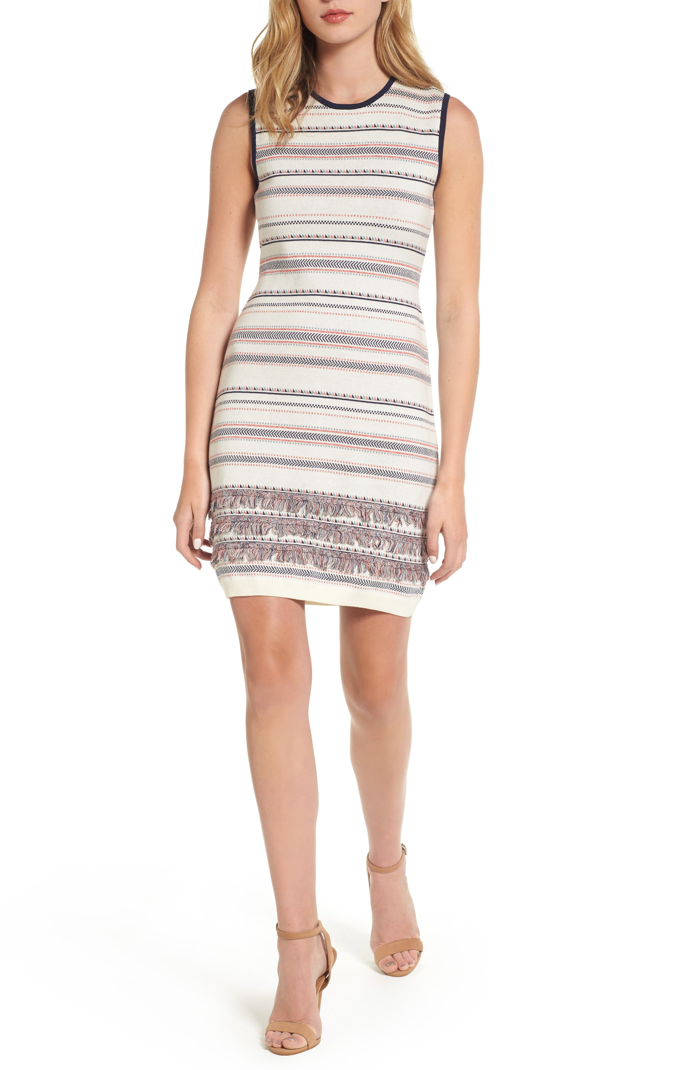 Sonata Sheath Dress,                         Main,                         color, Ivory