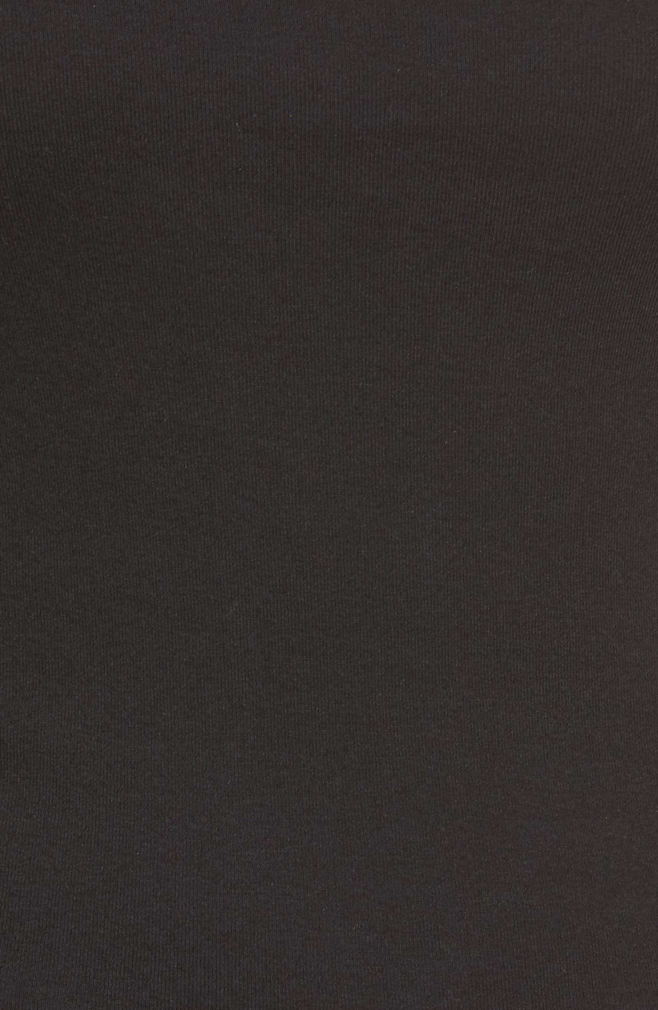 'Melody' Long Sleeve Scoop Neck Tee,                             Alternate thumbnail 5, color,                             Black