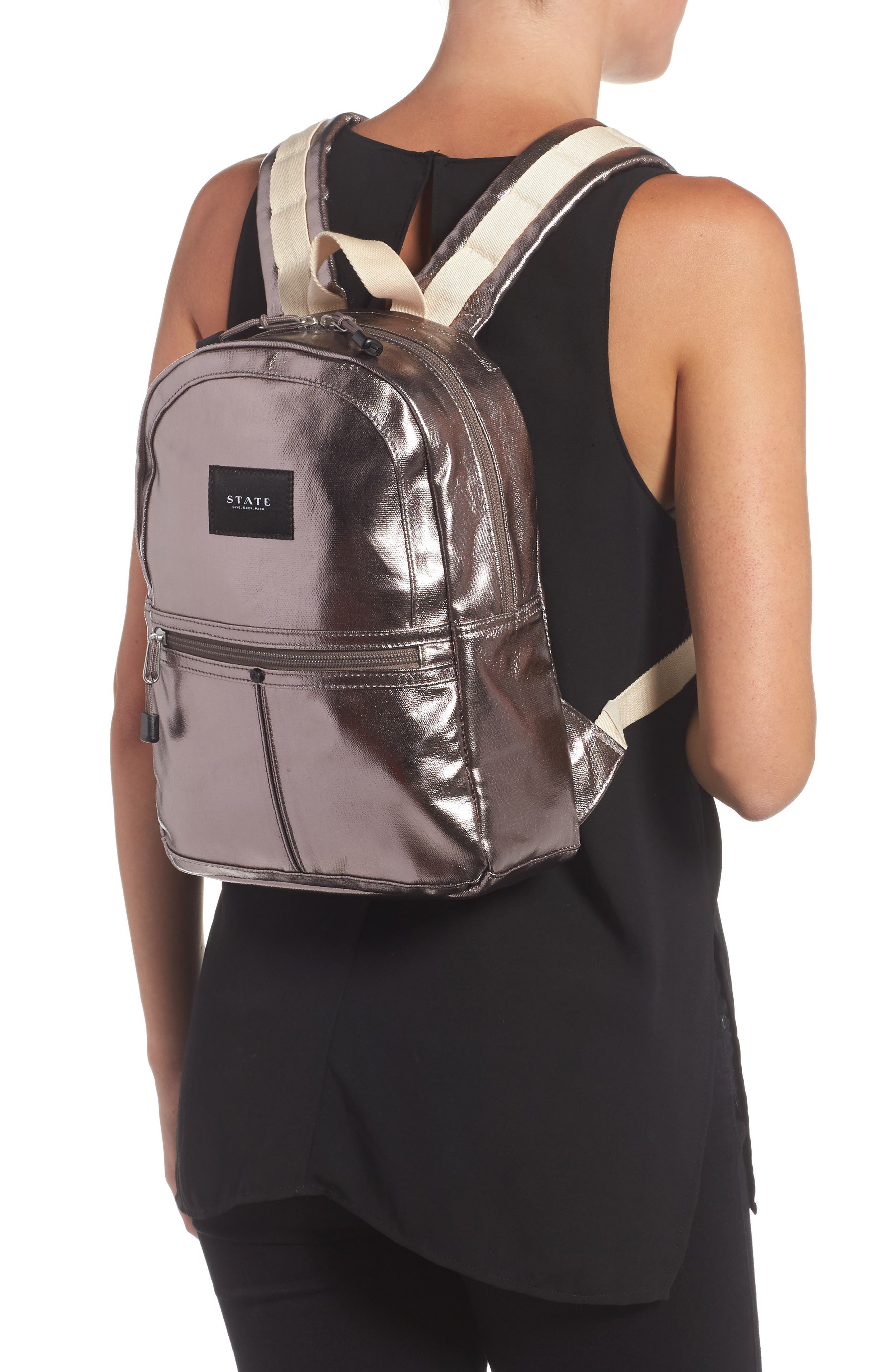 Mini Kane Backpack,                             Alternate thumbnail 2, color,                             Chrome