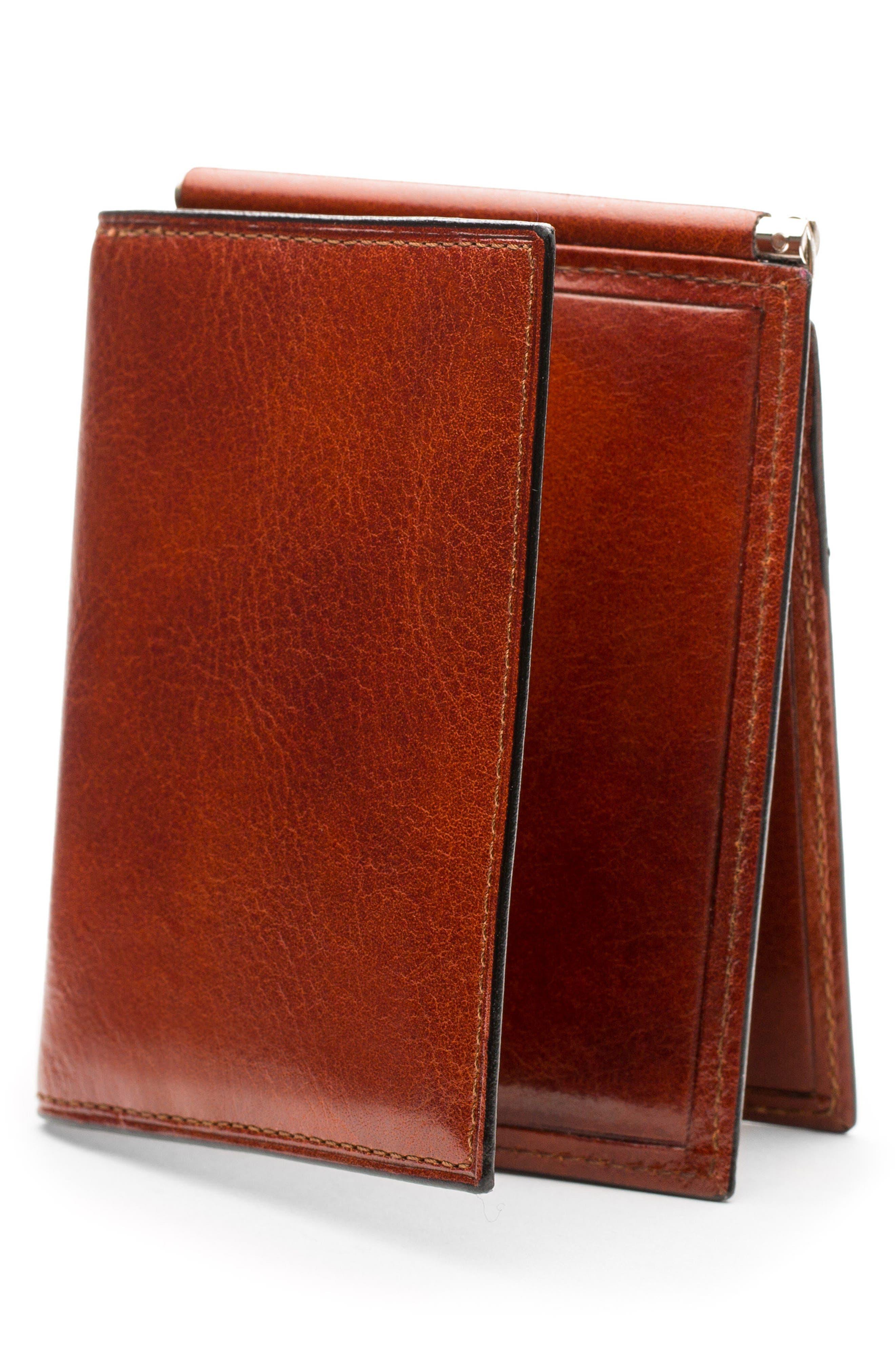 Bosca Leather Money Clip Wallet