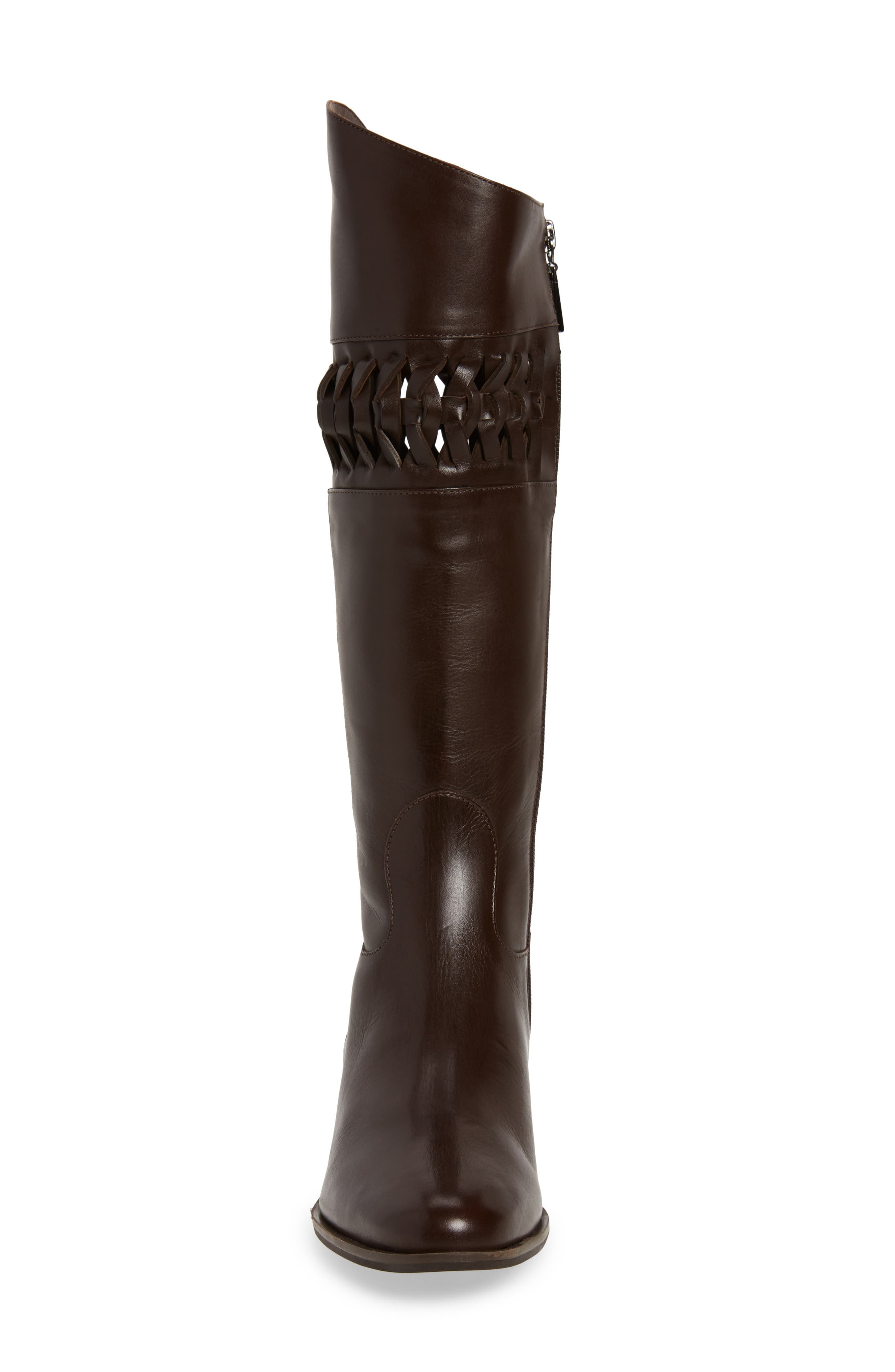 Zezette Woven Boot,                             Alternate thumbnail 4, color,                             Cafe Leather