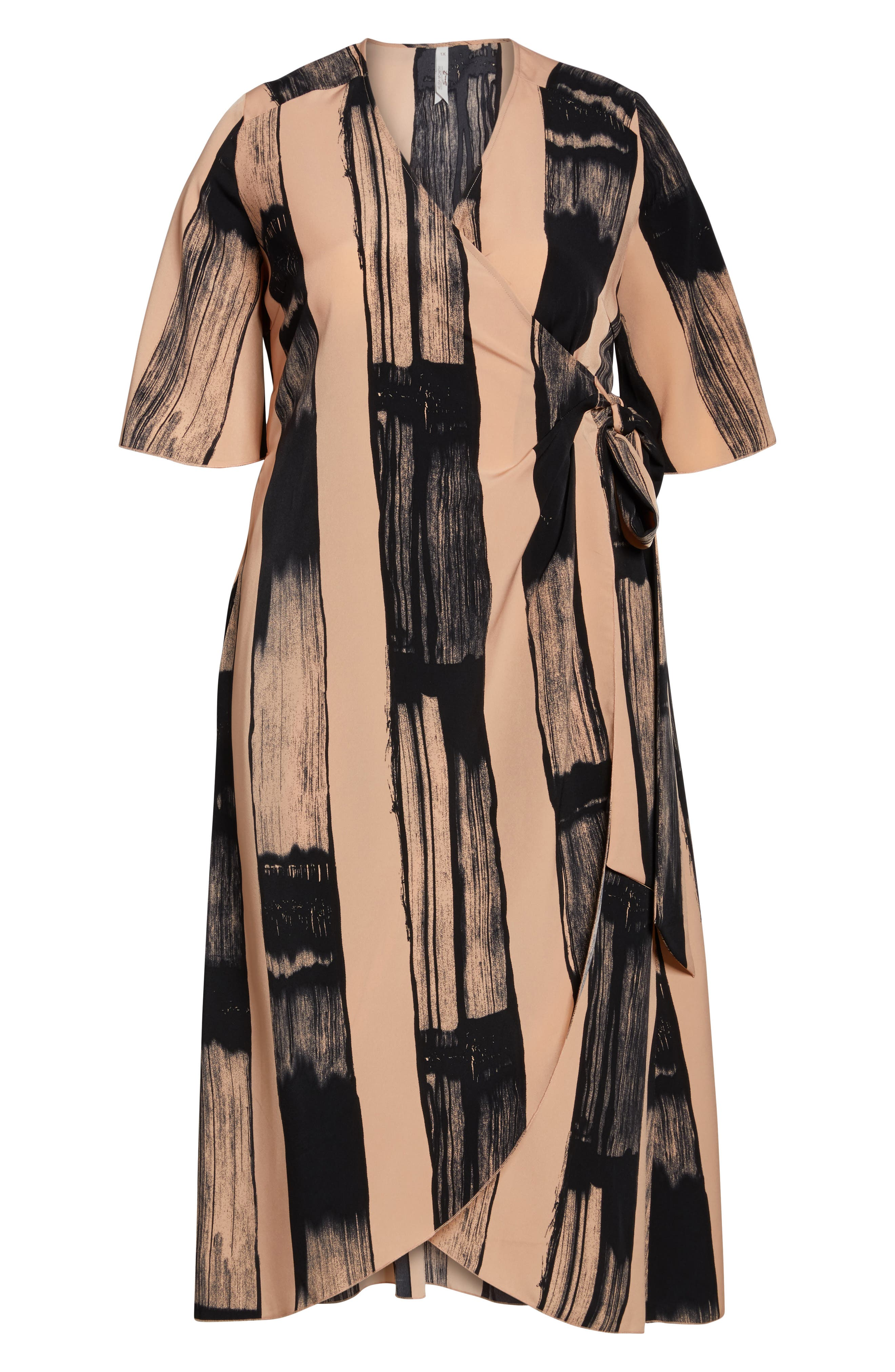 Alternate Image 6  - Melissa McCarthy Seven7 Print Wrap Dress (Plus Size)