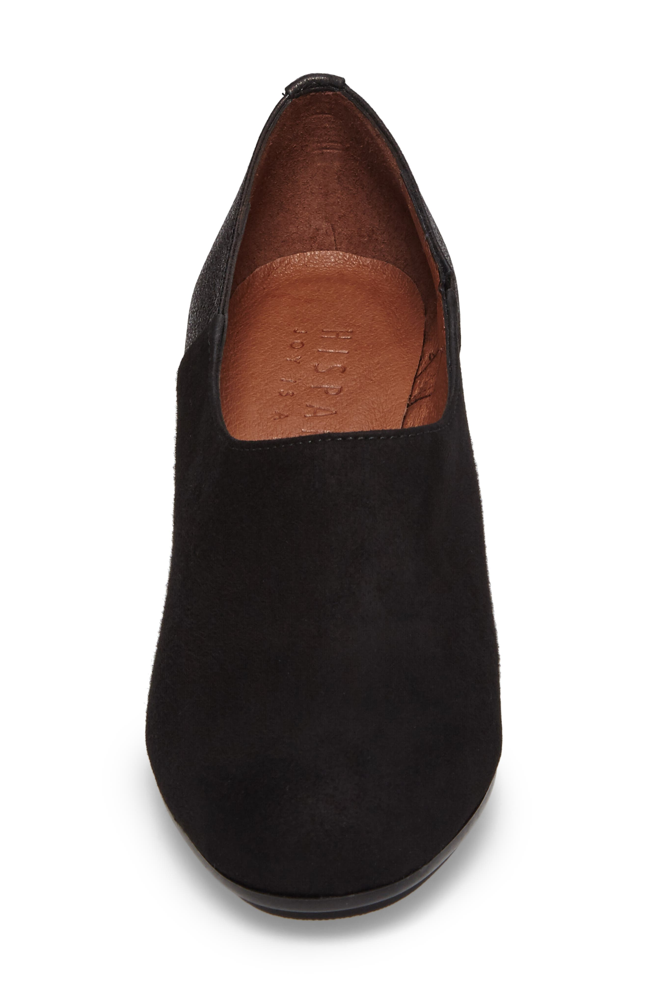 Gillian Low Bootie,                             Alternate thumbnail 4, color,                             Black Leather
