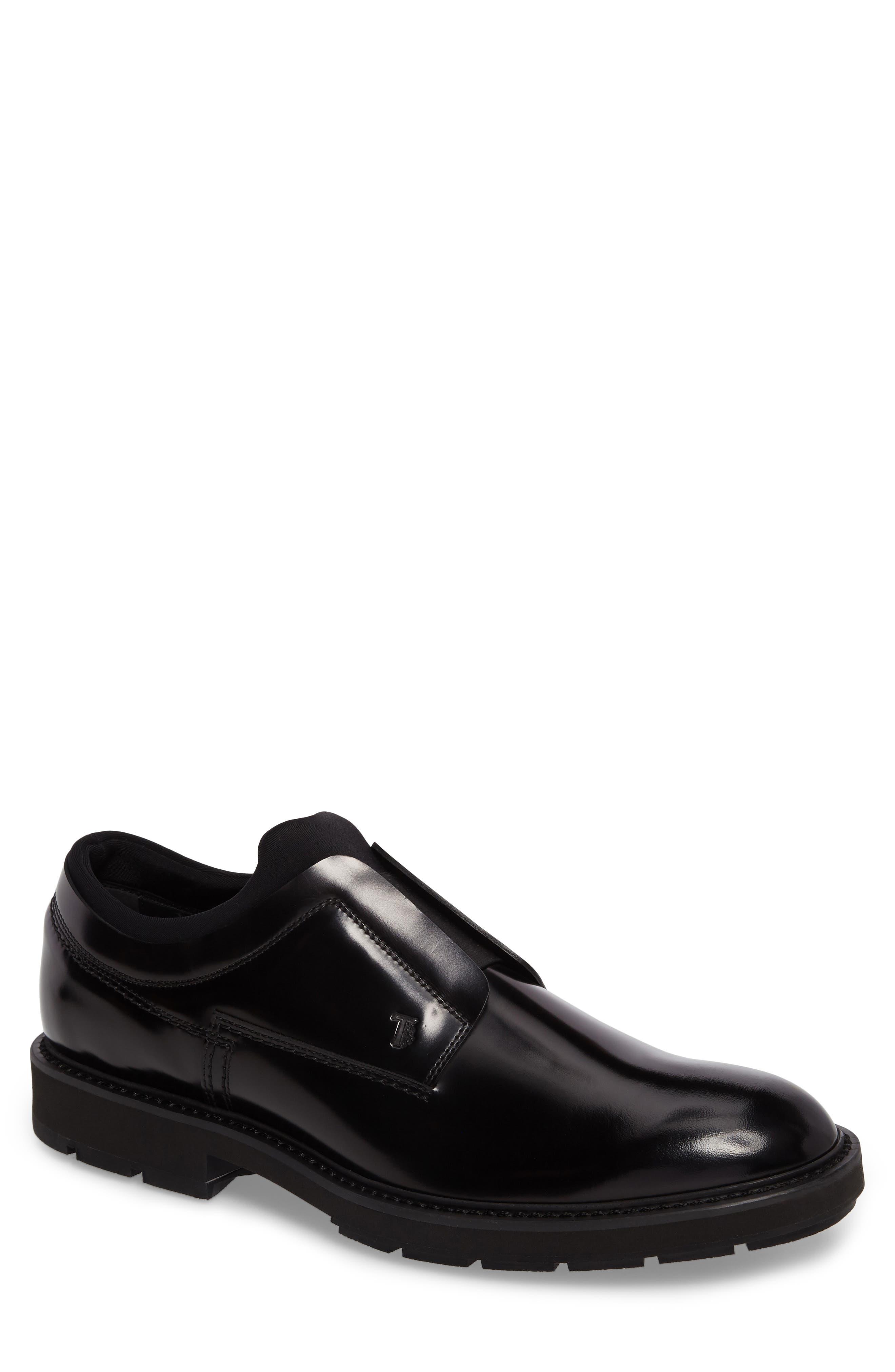Plain Toe Derby,                             Main thumbnail 1, color,                             Black Leather