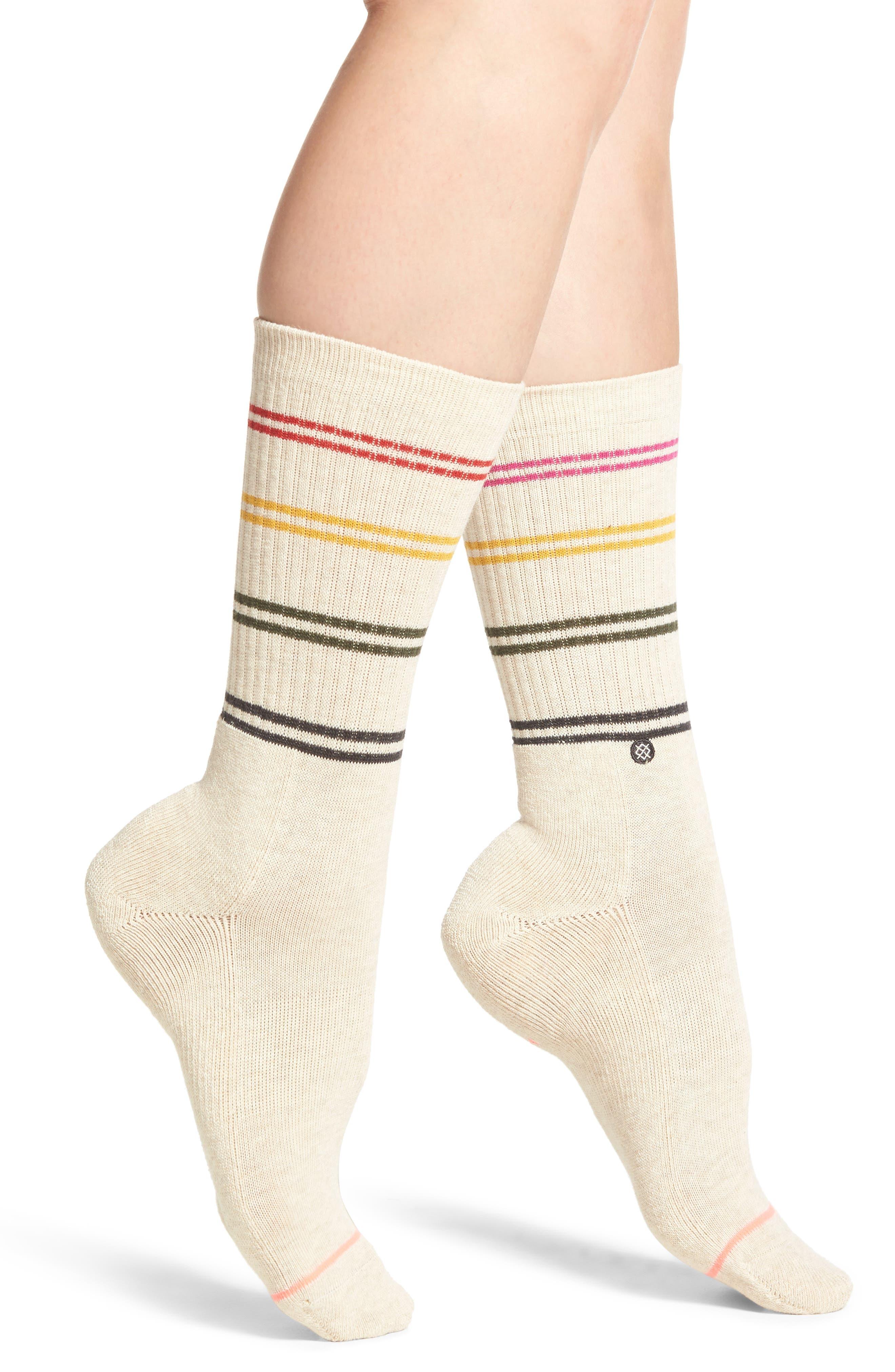 Jah Crew Socks,                             Main thumbnail 1, color,                             Oatmeal Heather