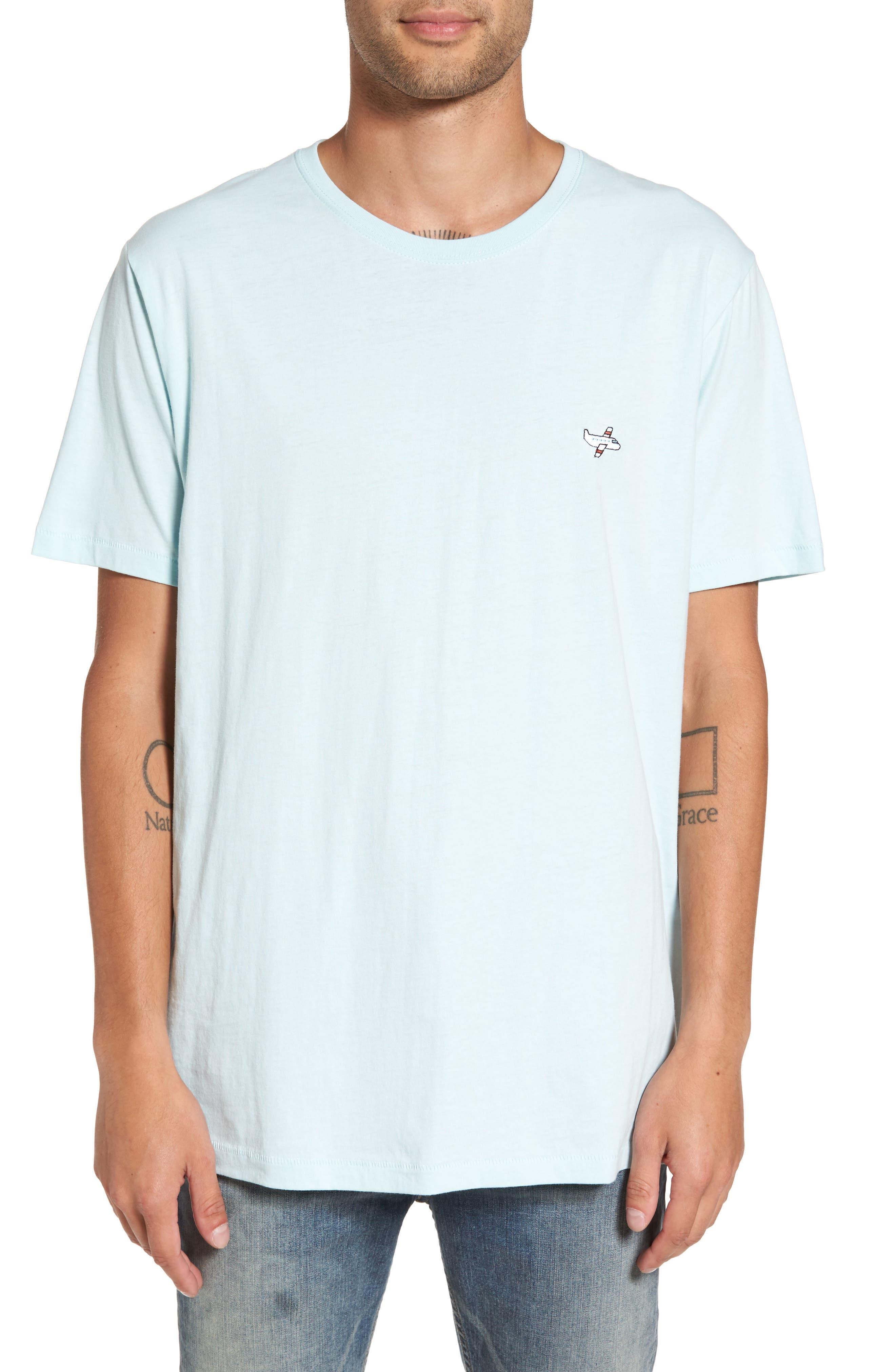Aeroplane Appliqué T-Shirt,                         Main,                         color, Aqua