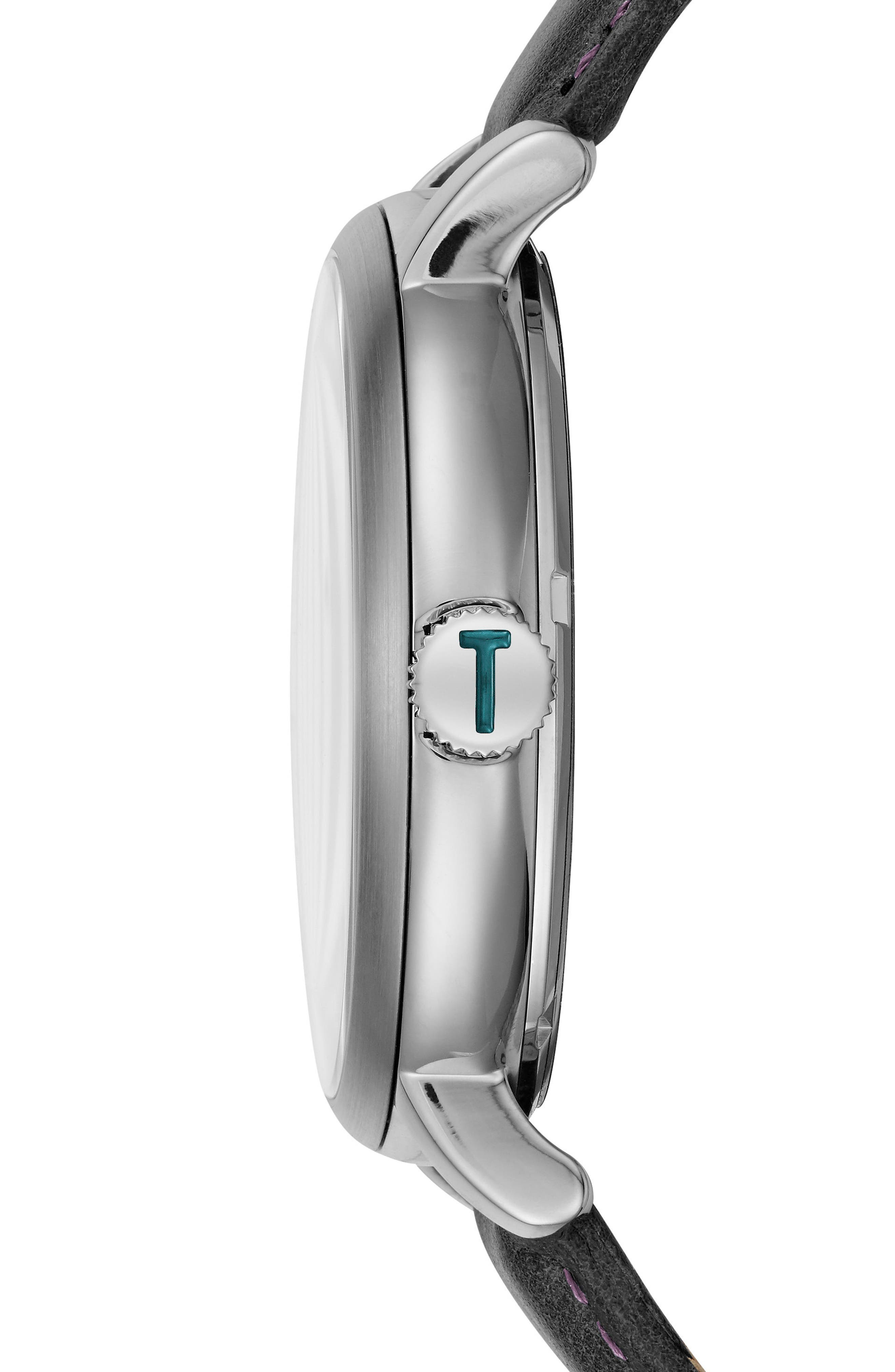 Alternate Image 3  - Ted Baker London Trent Leather Strap Watch, 44mm