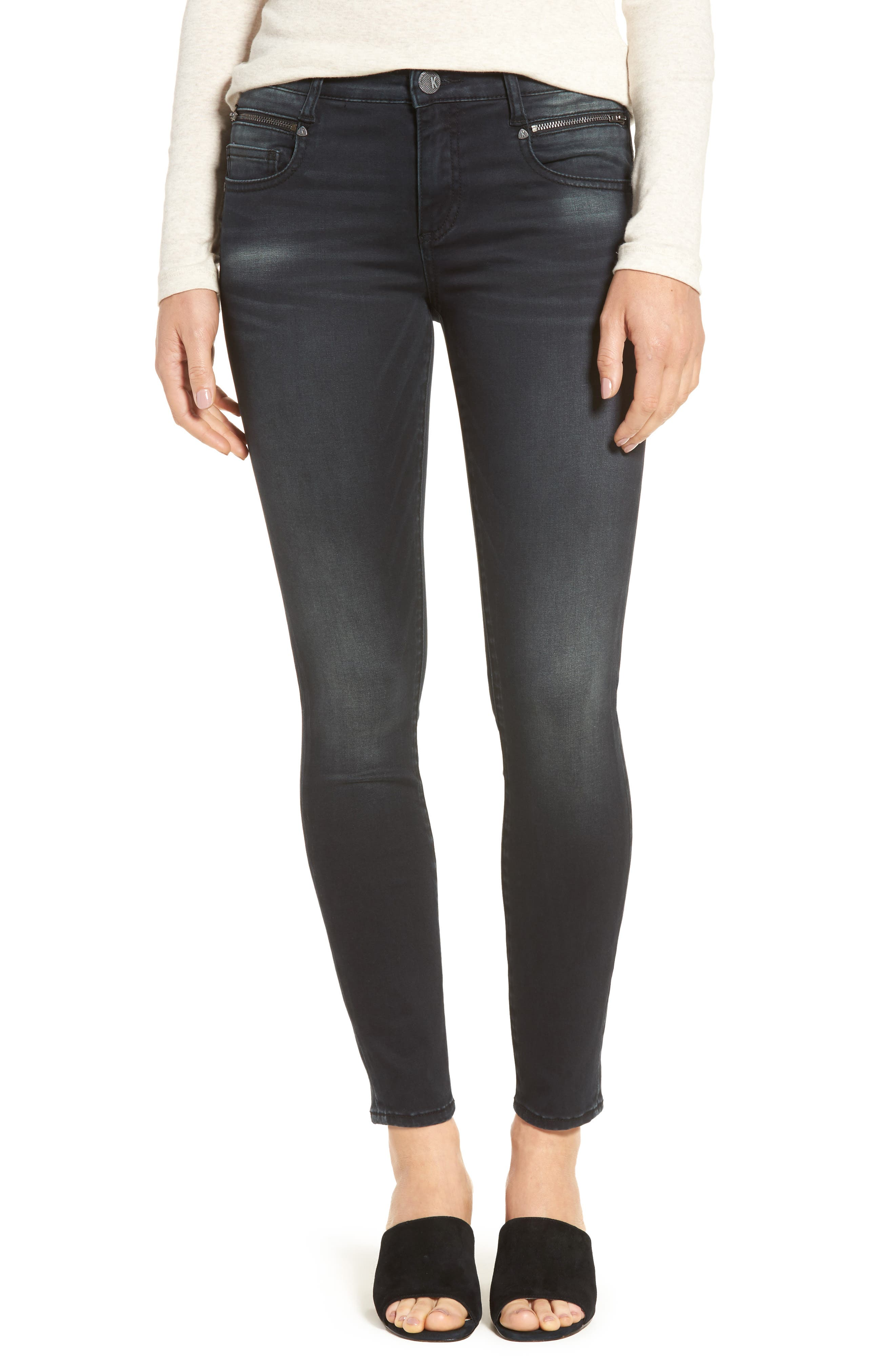 Alternate Image 1 Selected - KUT from the Kloth Reese Skinny Ankle Jeans (Proven)