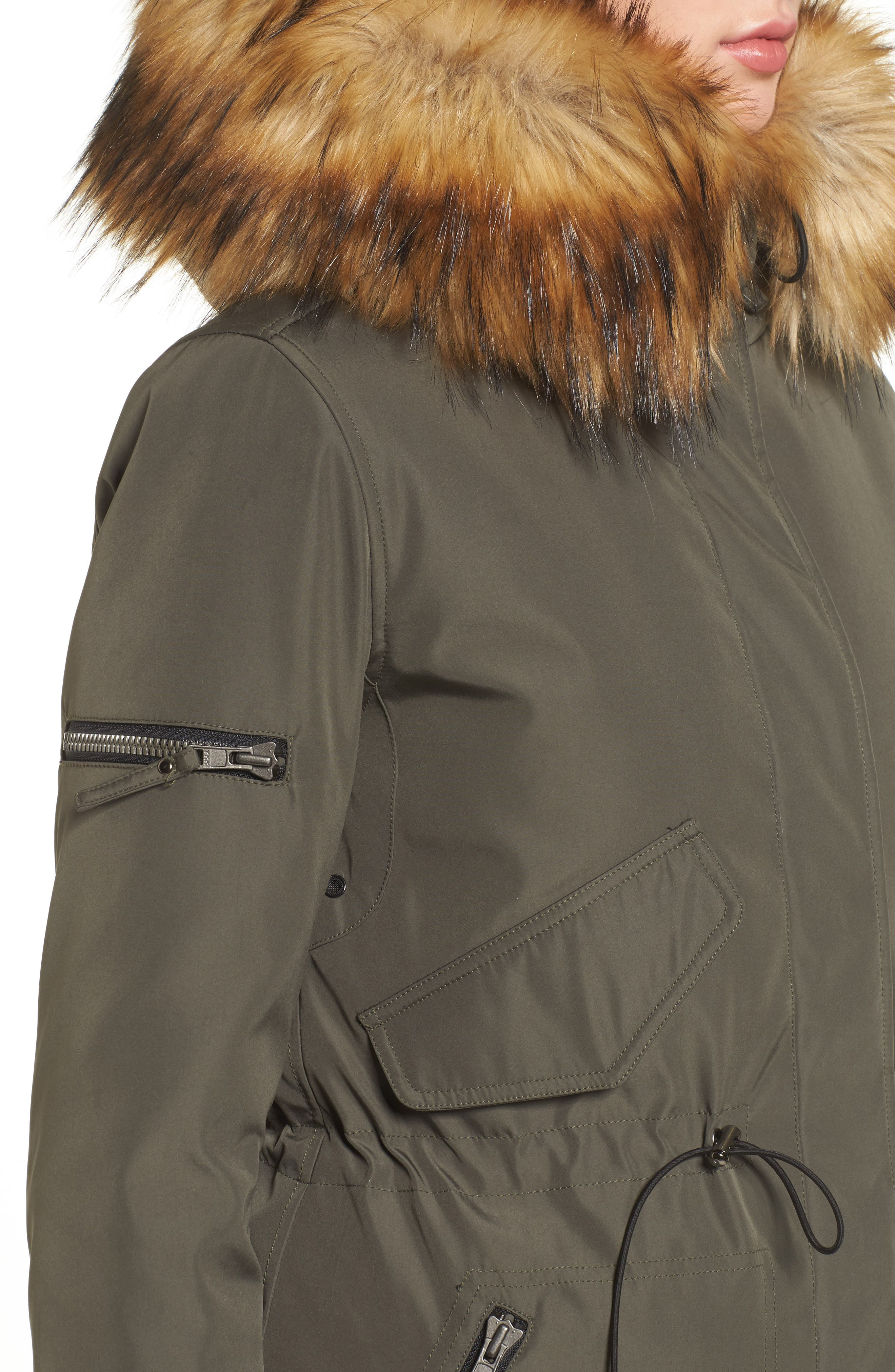 Alternate Image 4  - S13 Faux Fur Hooded Anorak