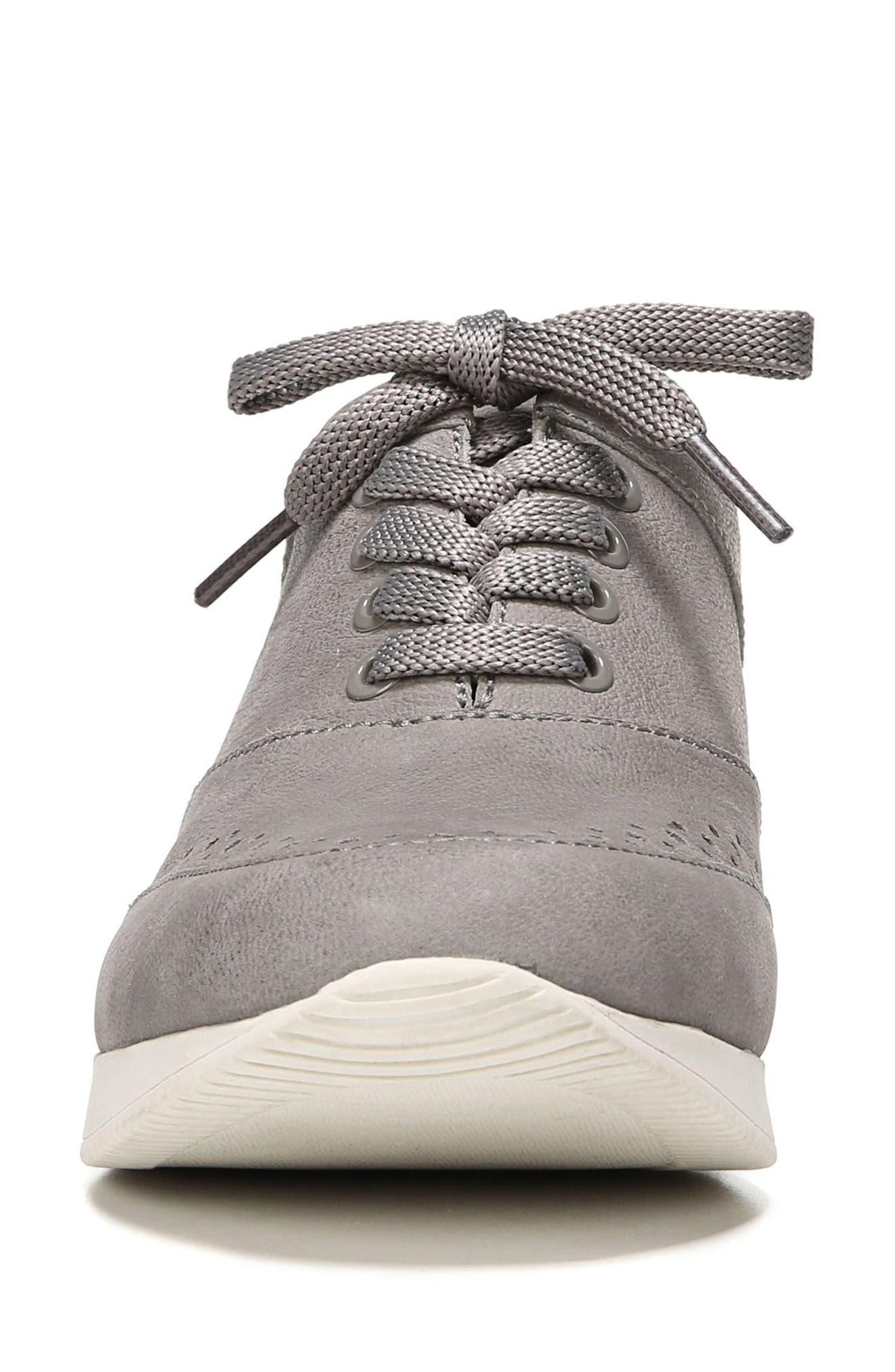 Jimi 2 Perforated Sneaker,                             Alternate thumbnail 4, color,                             Modern Grey Nubuck Leather