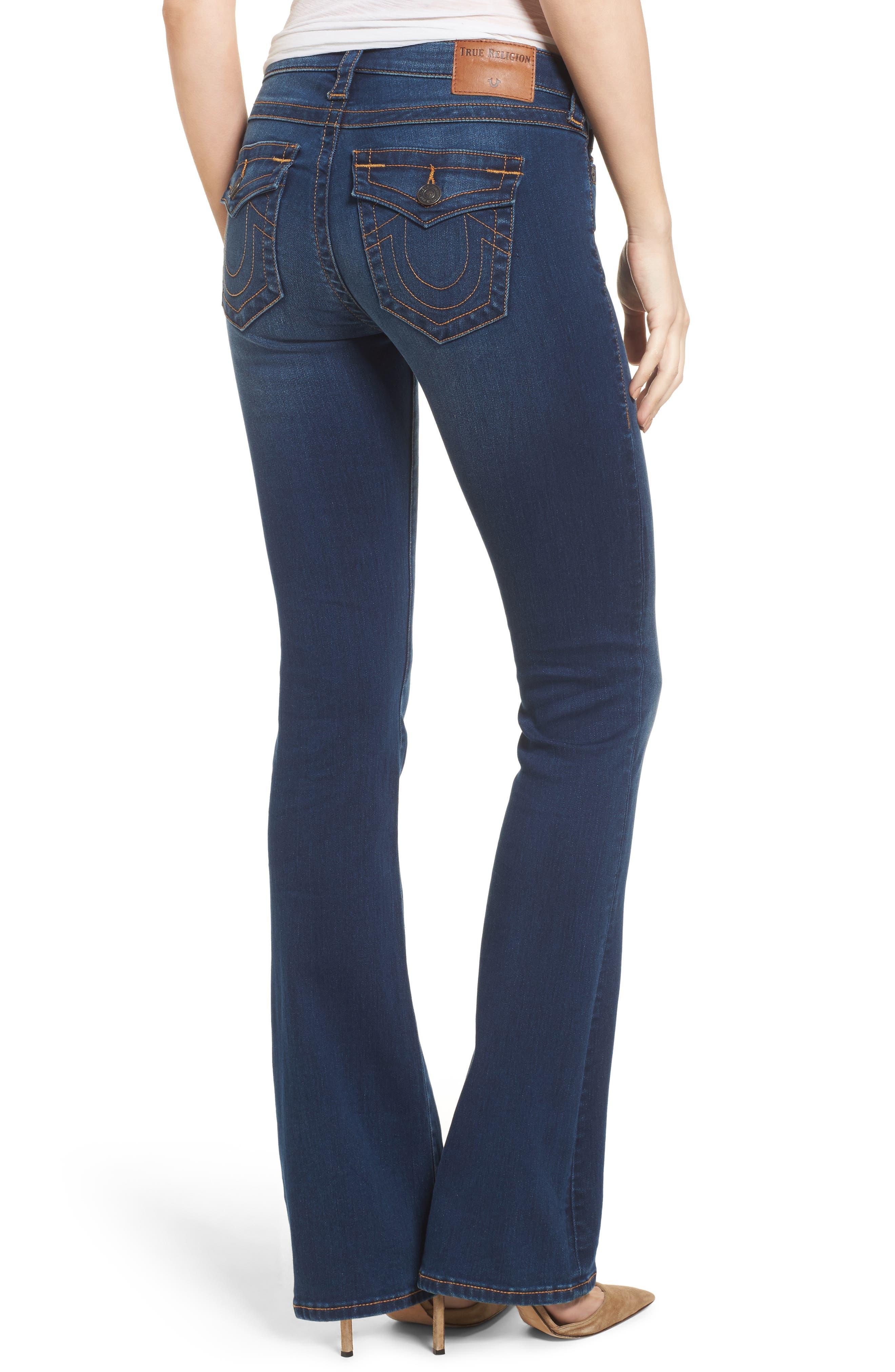Becca Bootcut Jeans,                             Alternate thumbnail 2, color,                             Lands End Indigo