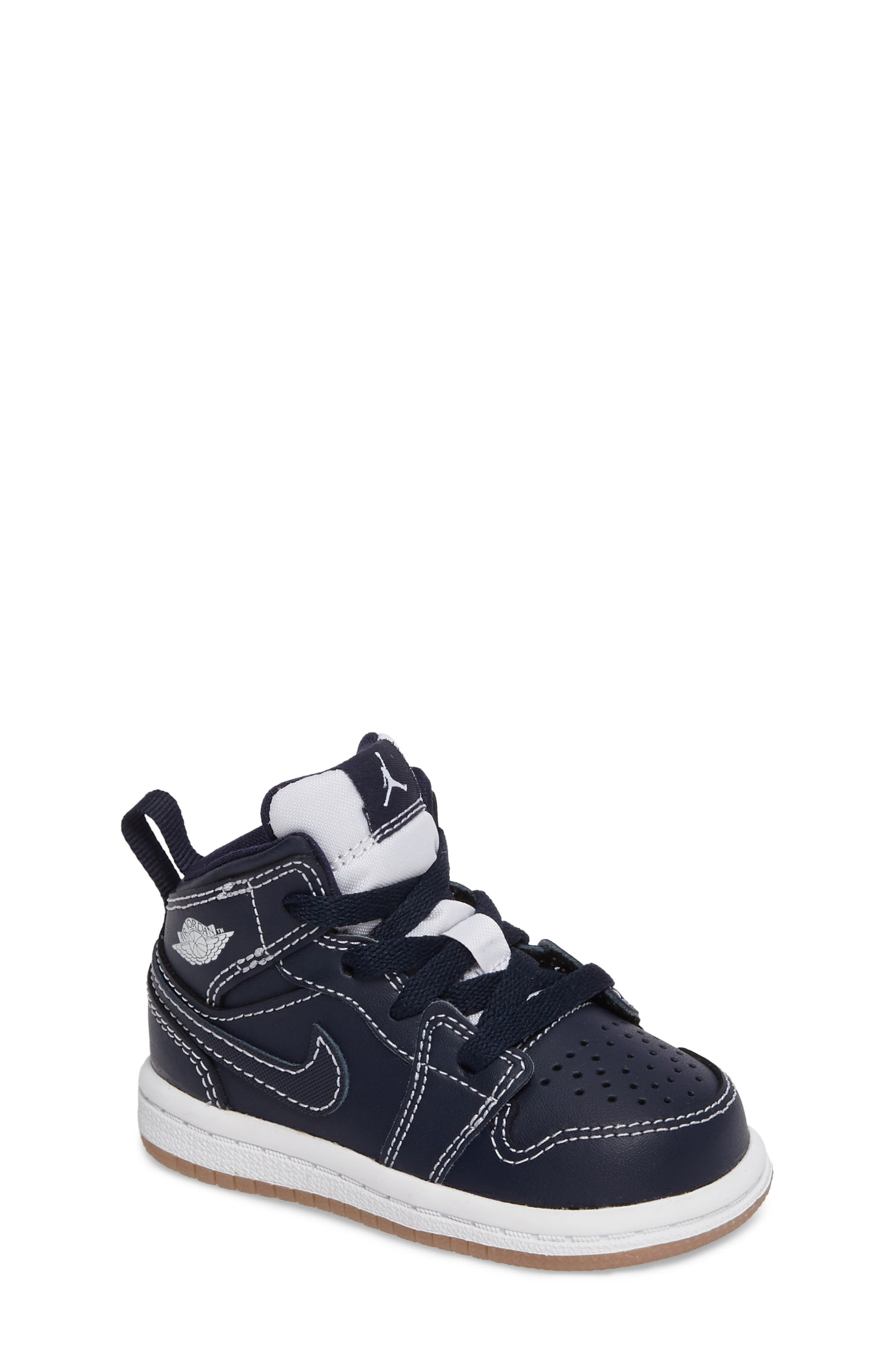 Alternate Image 1 Selected - Nike 'Air Jordan 1' Mid Sneaker (Baby, Walker & Toddler)
