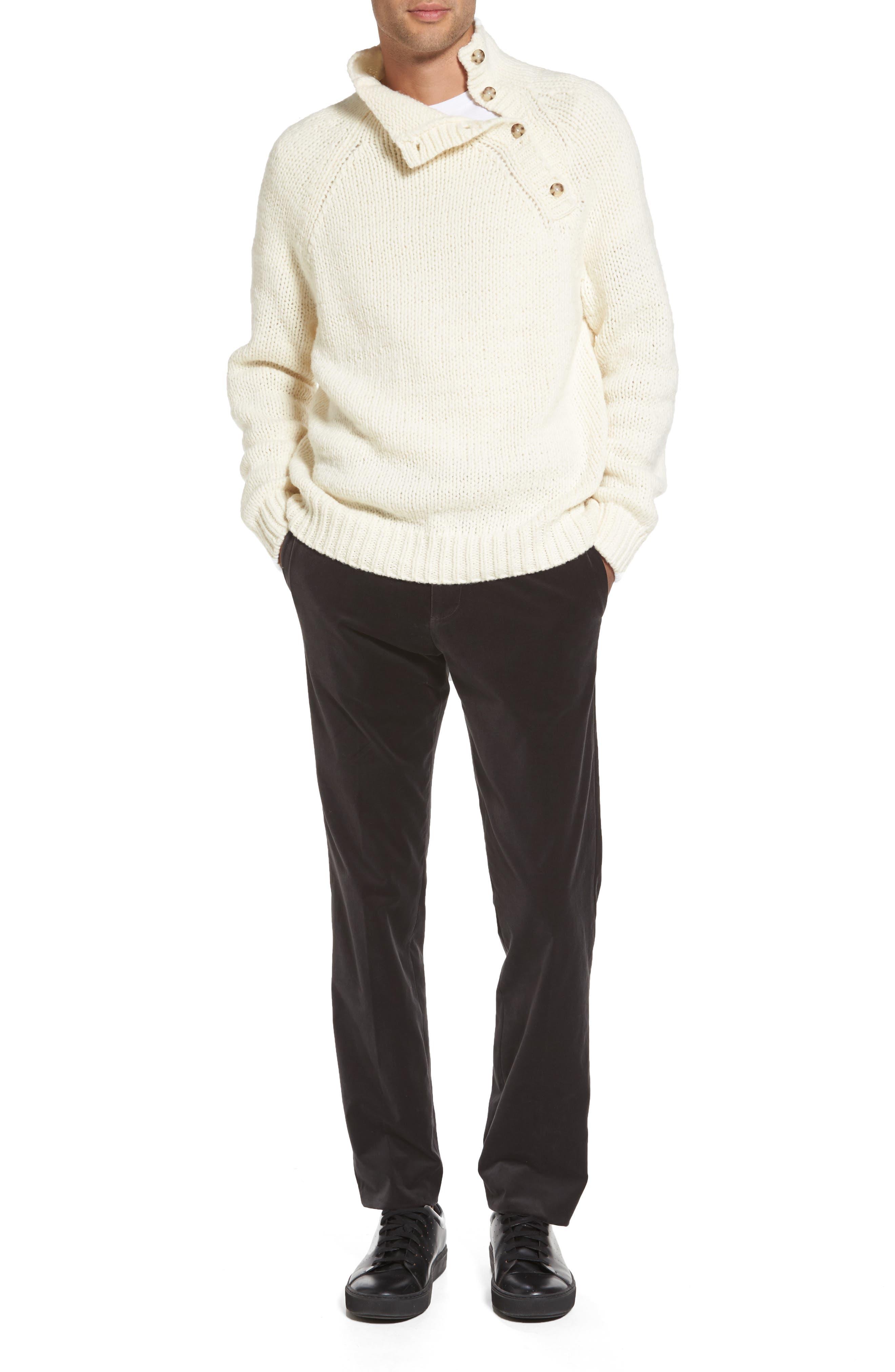 Alternate Image 7  - Vince Side Button Mock Neck Sweater