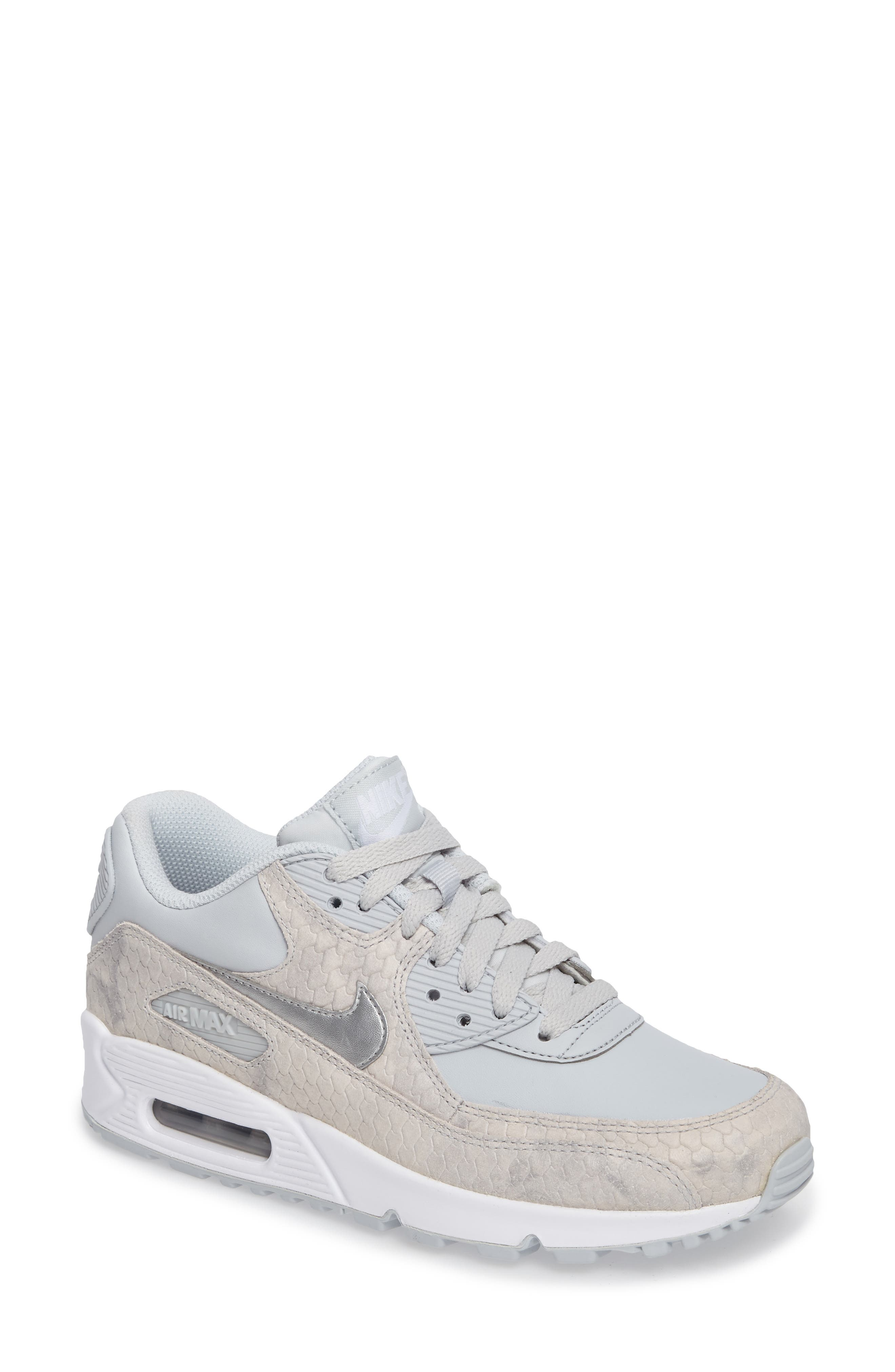 Alternate Image 1 Selected - Nike Air Max 90 Embossed Premium Sneaker (Women)