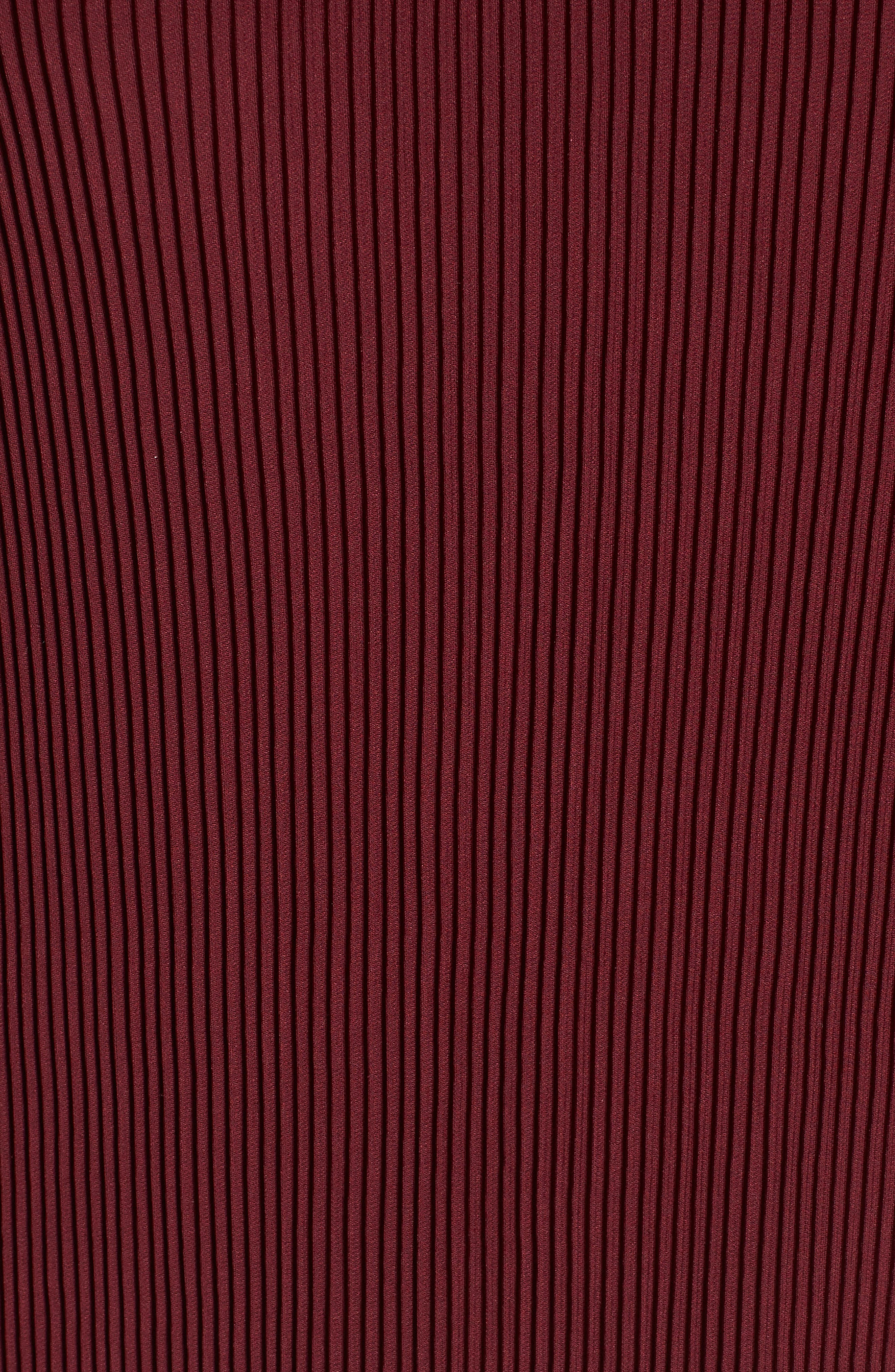 Brinley Ruffle Cold Shoulder Top,                             Alternate thumbnail 5, color,                             Oxblood