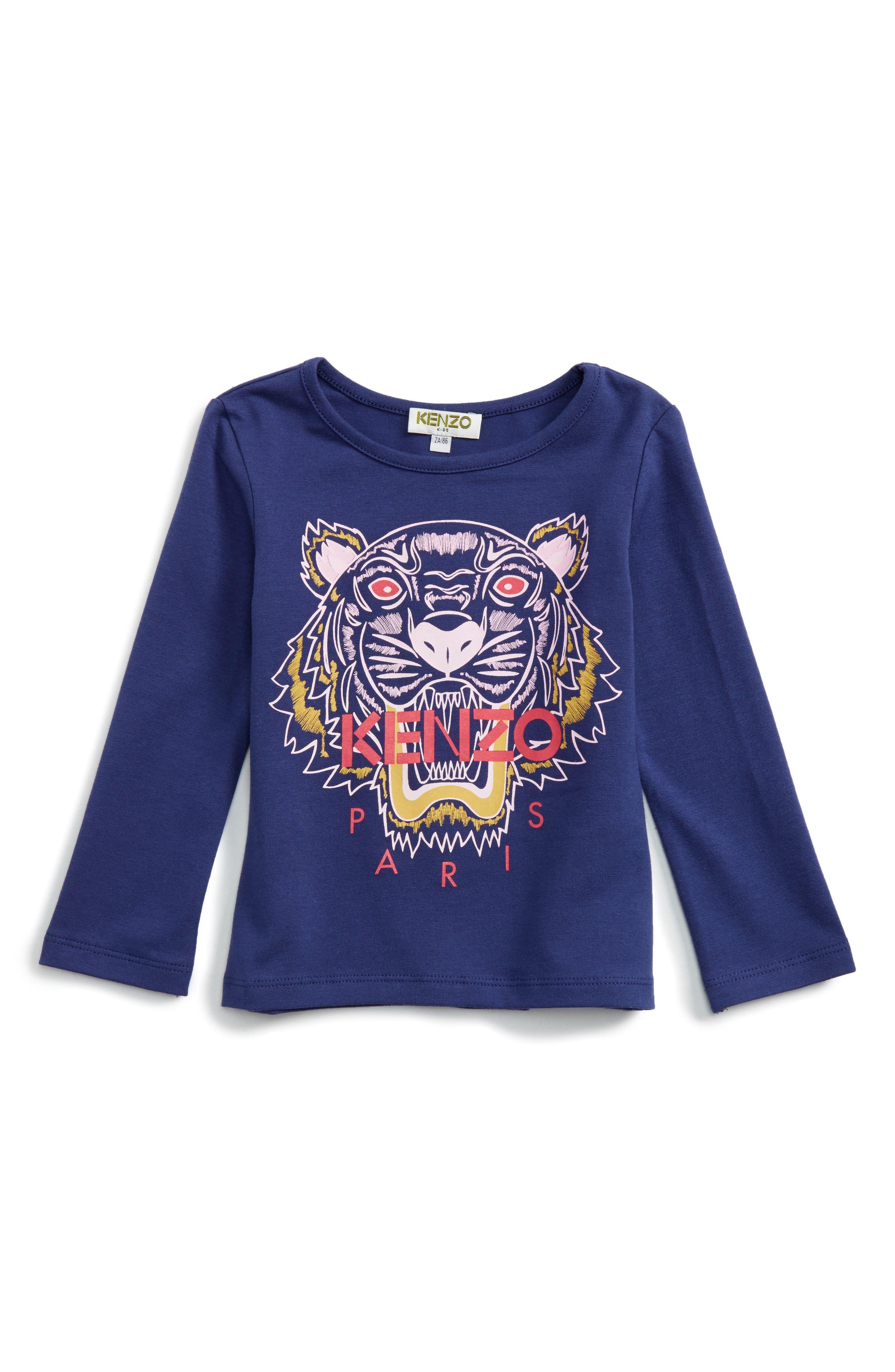 Alternate Image 1 Selected - KENZO Tiger Tee (Toddler Girls, Little Girls & Big Girls)
