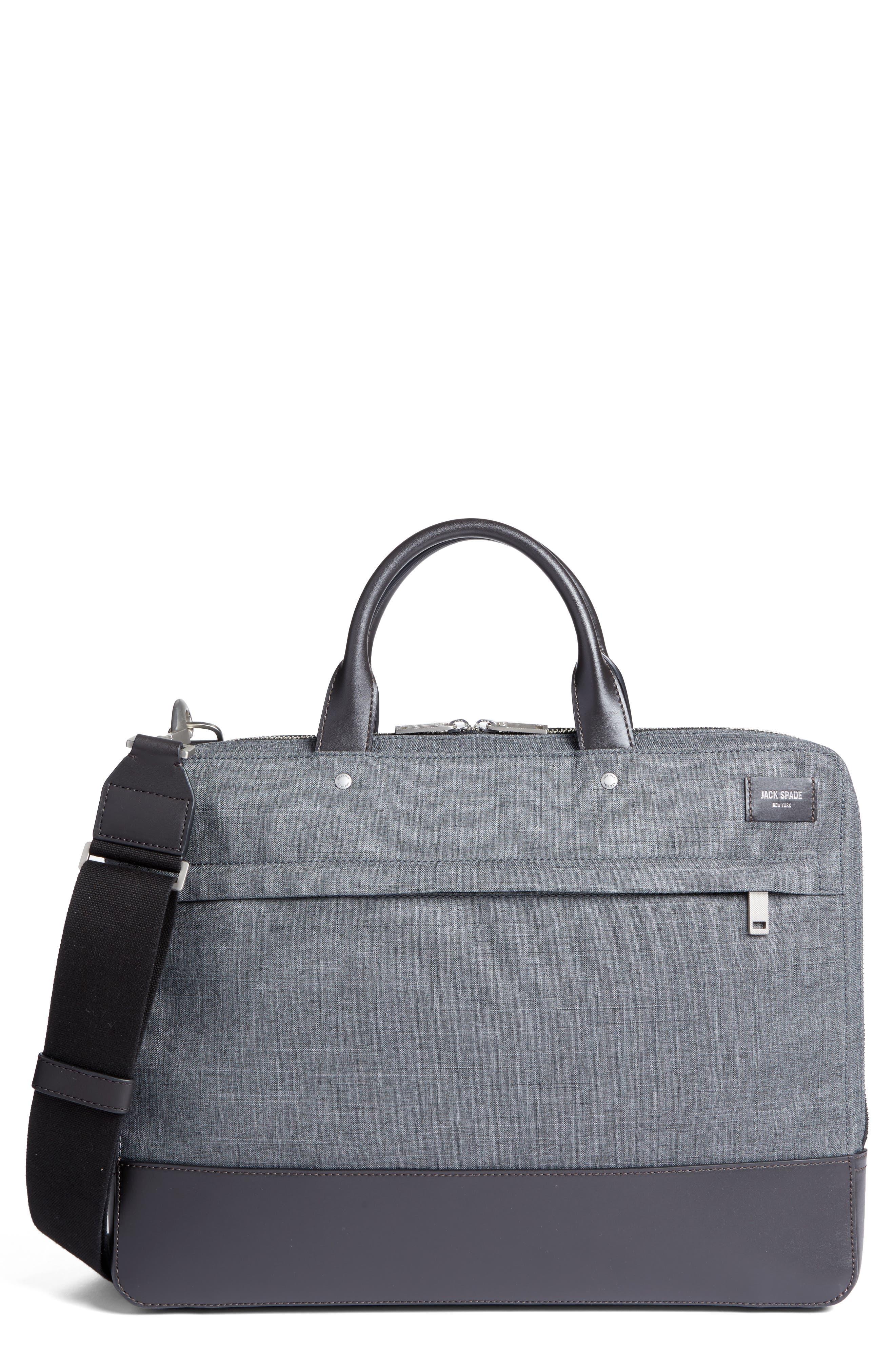 Tech Oxford Briefcase,                             Main thumbnail 1, color,                             Grey
