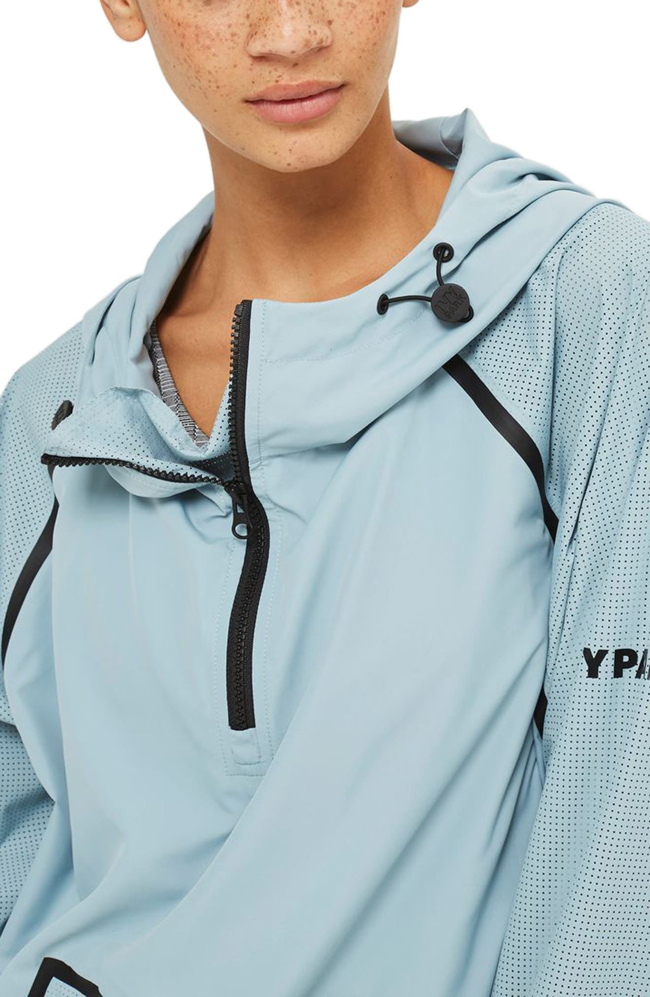 Perforated Pullover Jacket,                             Alternate thumbnail 6, color,                             Porcelain Blue