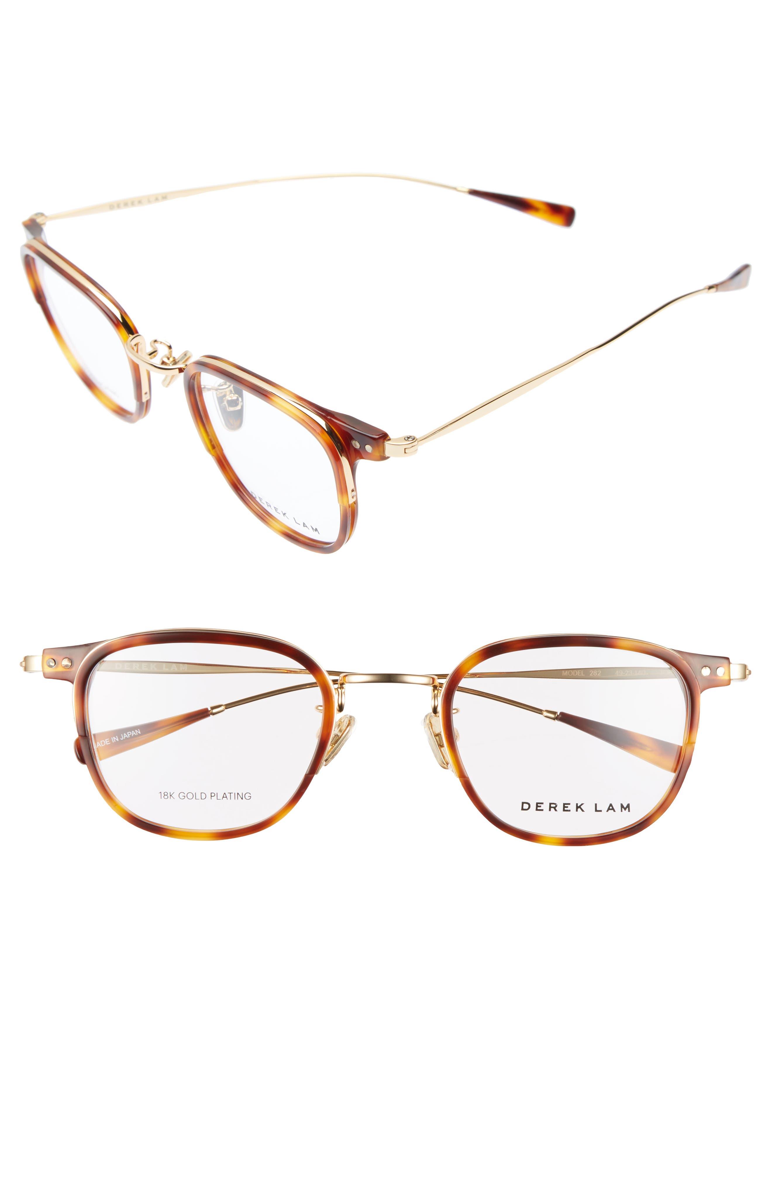 49mm Optical Glasses,                         Main,                         color, Tortoise