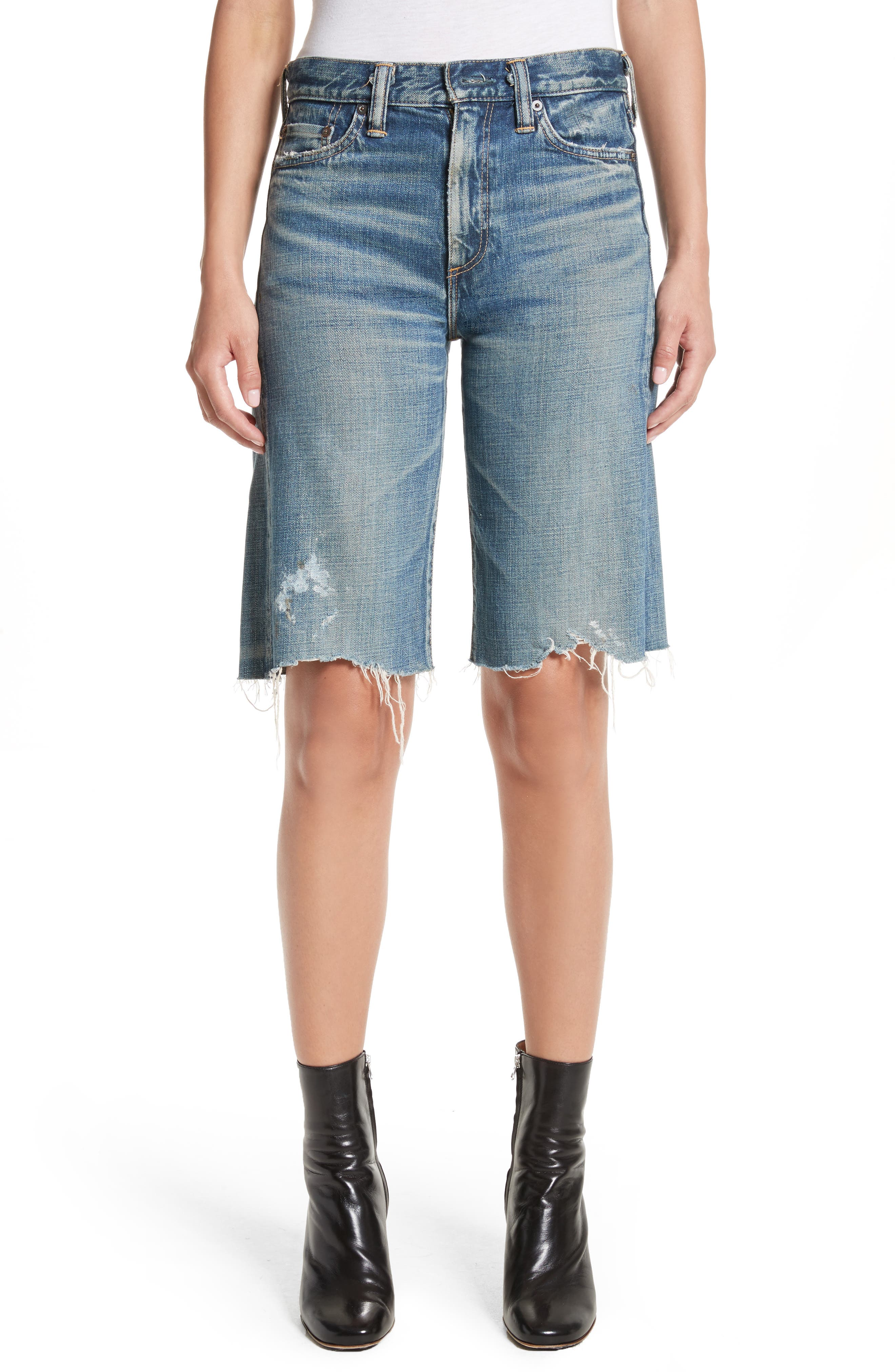 Simon Miller Gannett Denim Shorts (Light Indigo)