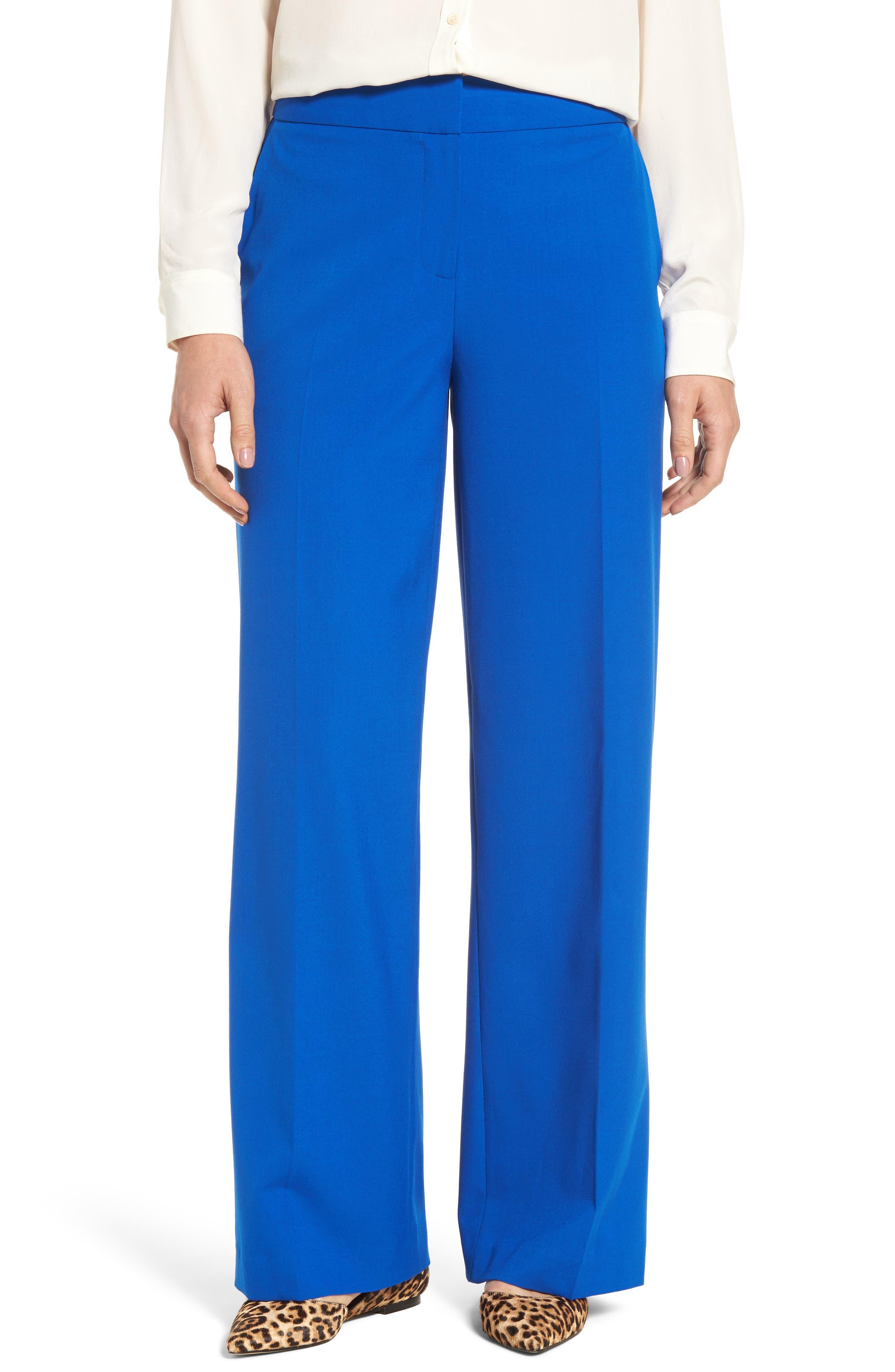 Wide Leg Pants,                         Main,                         color, Royal Cobalt