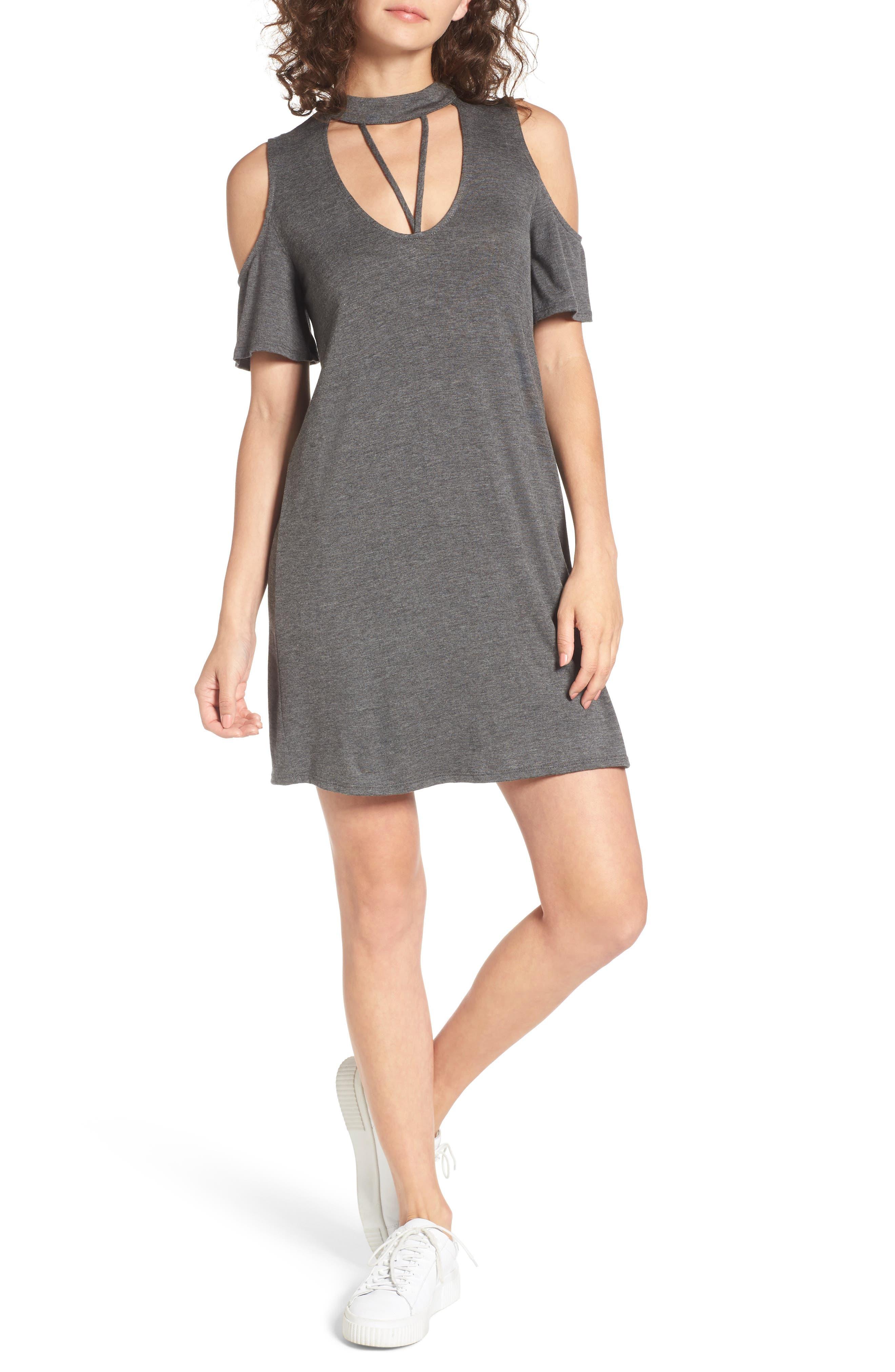Dee Elly Strappy Choker T-Shirt Dress