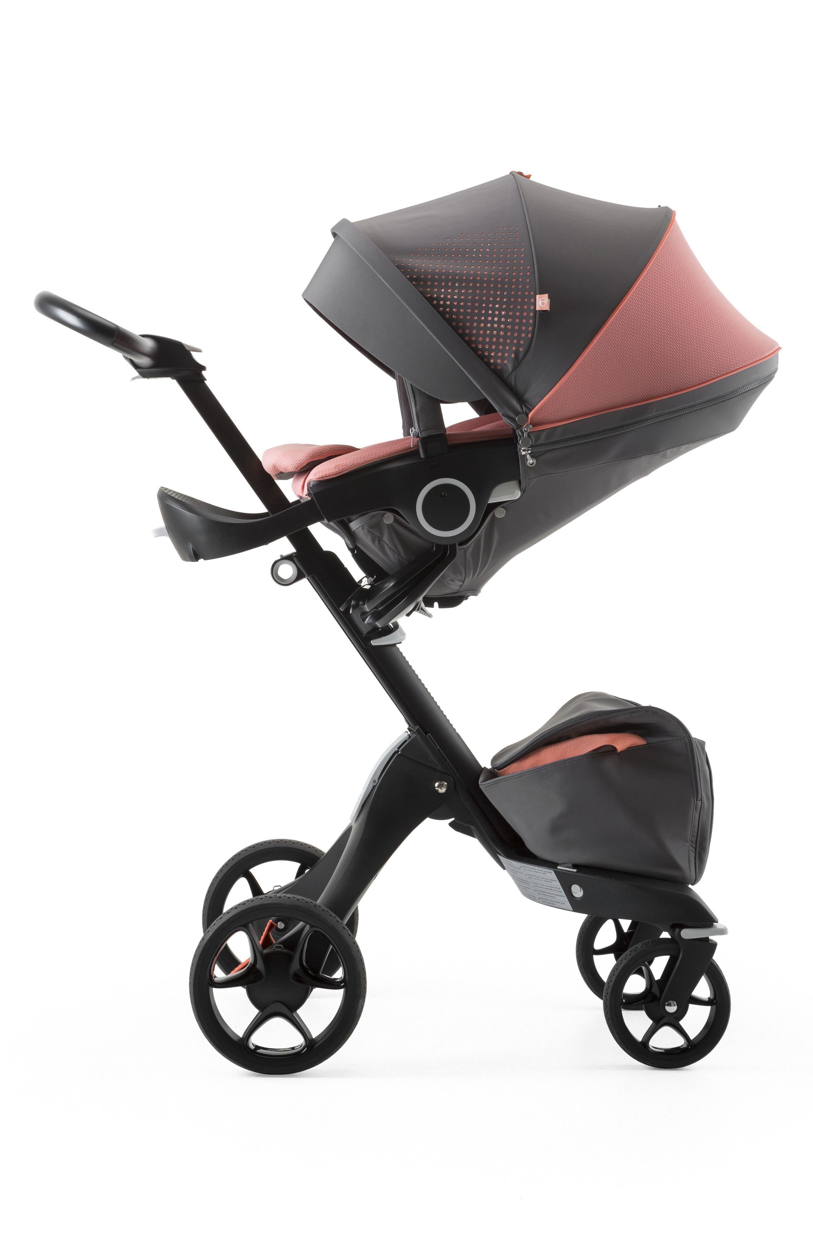 Xplory<sup>®</sup> V5 Black Athleisure Stroller,                             Alternate thumbnail 3, color,                             Coral