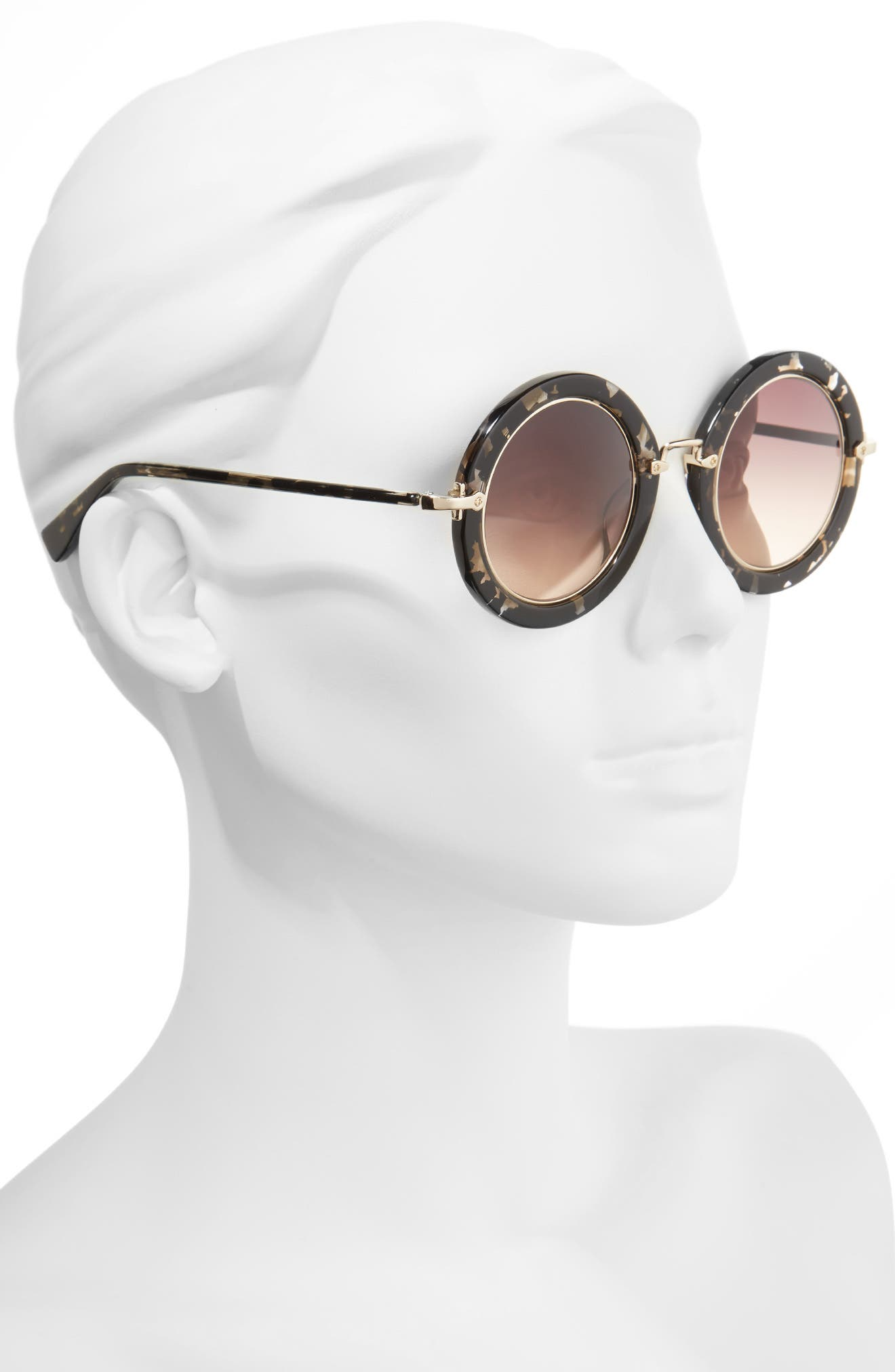 Alternate Image 2  - Derek Lam Madison 46mm Round Sunglasses