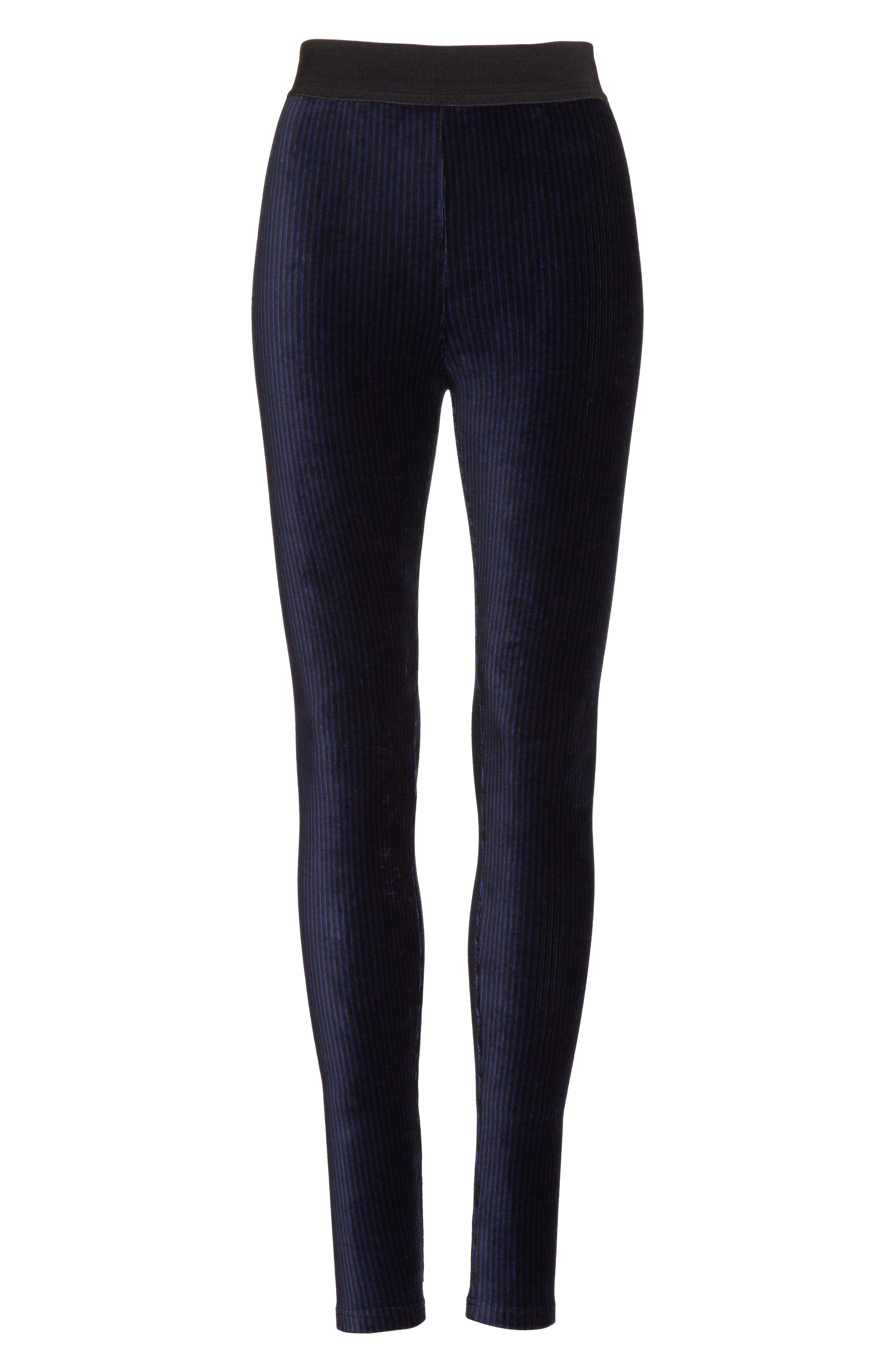 Alternate Image 6  - Free People Here We Go High Waist Stripe Velvet Leggings