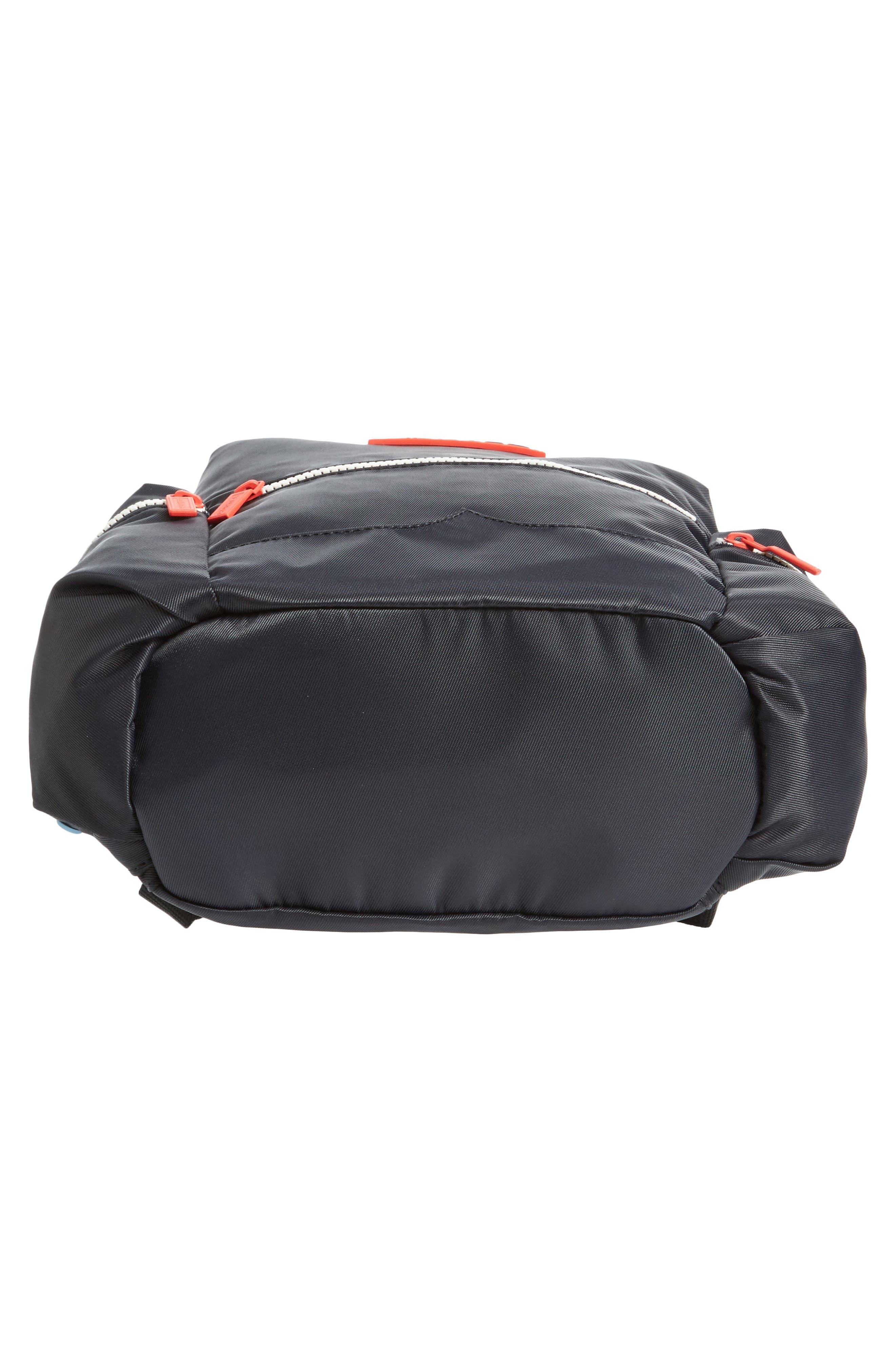 Original Mini Top Clip Nylon Backpack,                             Alternate thumbnail 6, color,                             Black