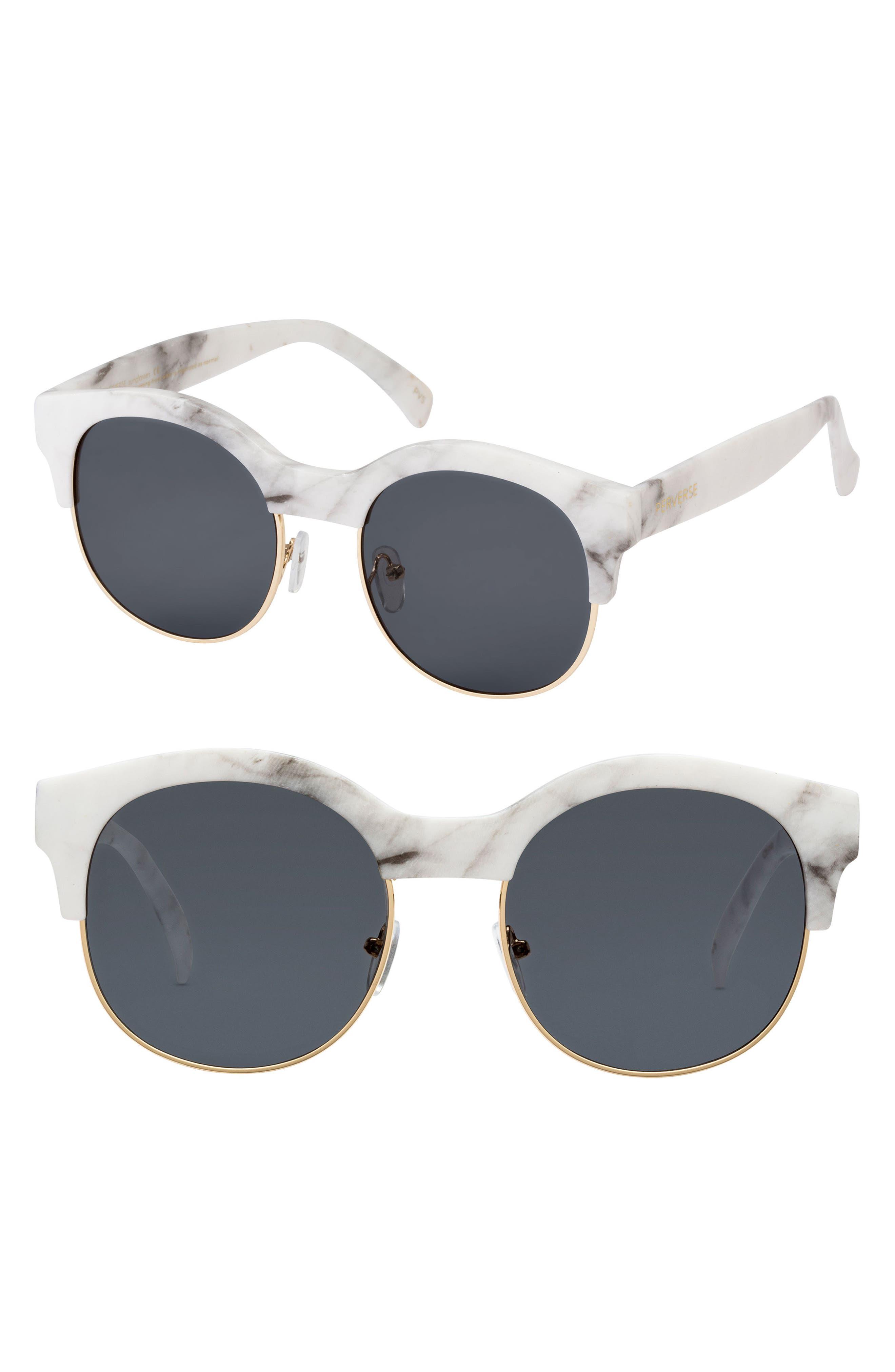 PERVERSE Greek 50mm Round Sunglasses