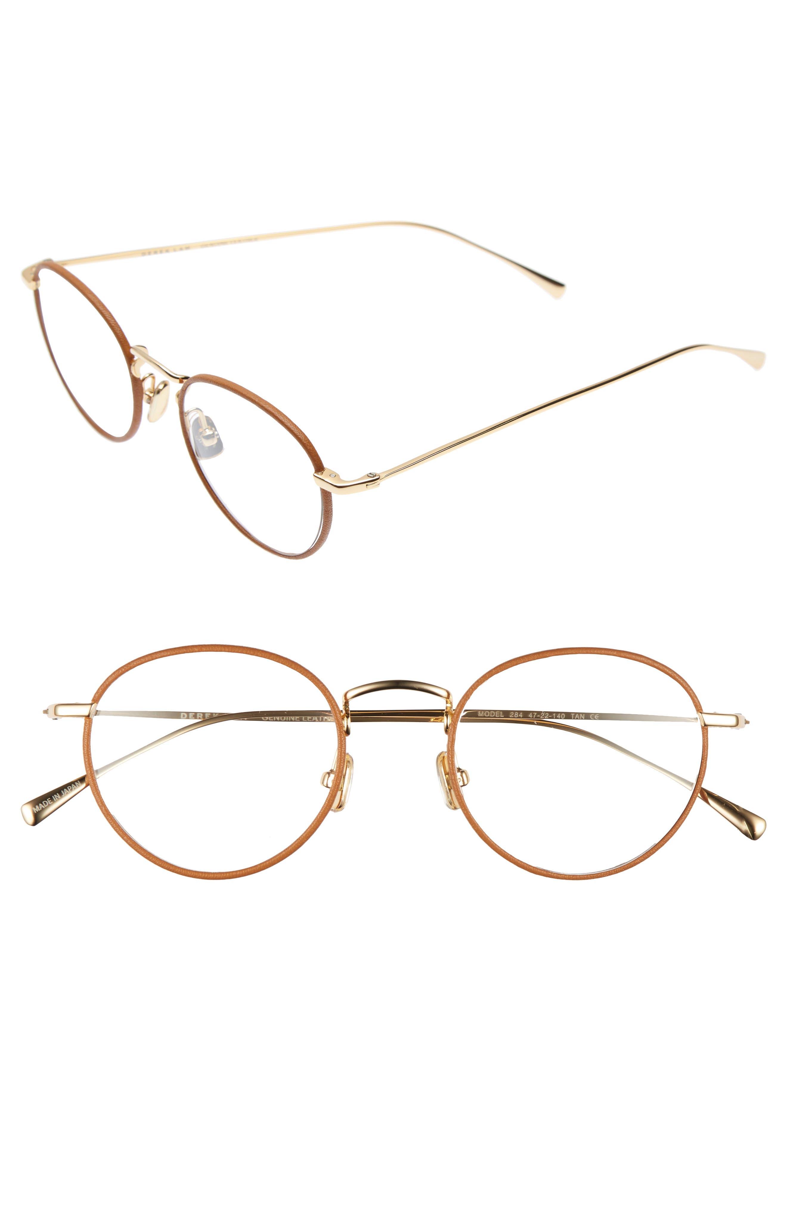47mm Optical Glasses,                             Main thumbnail 1, color,                             Tan