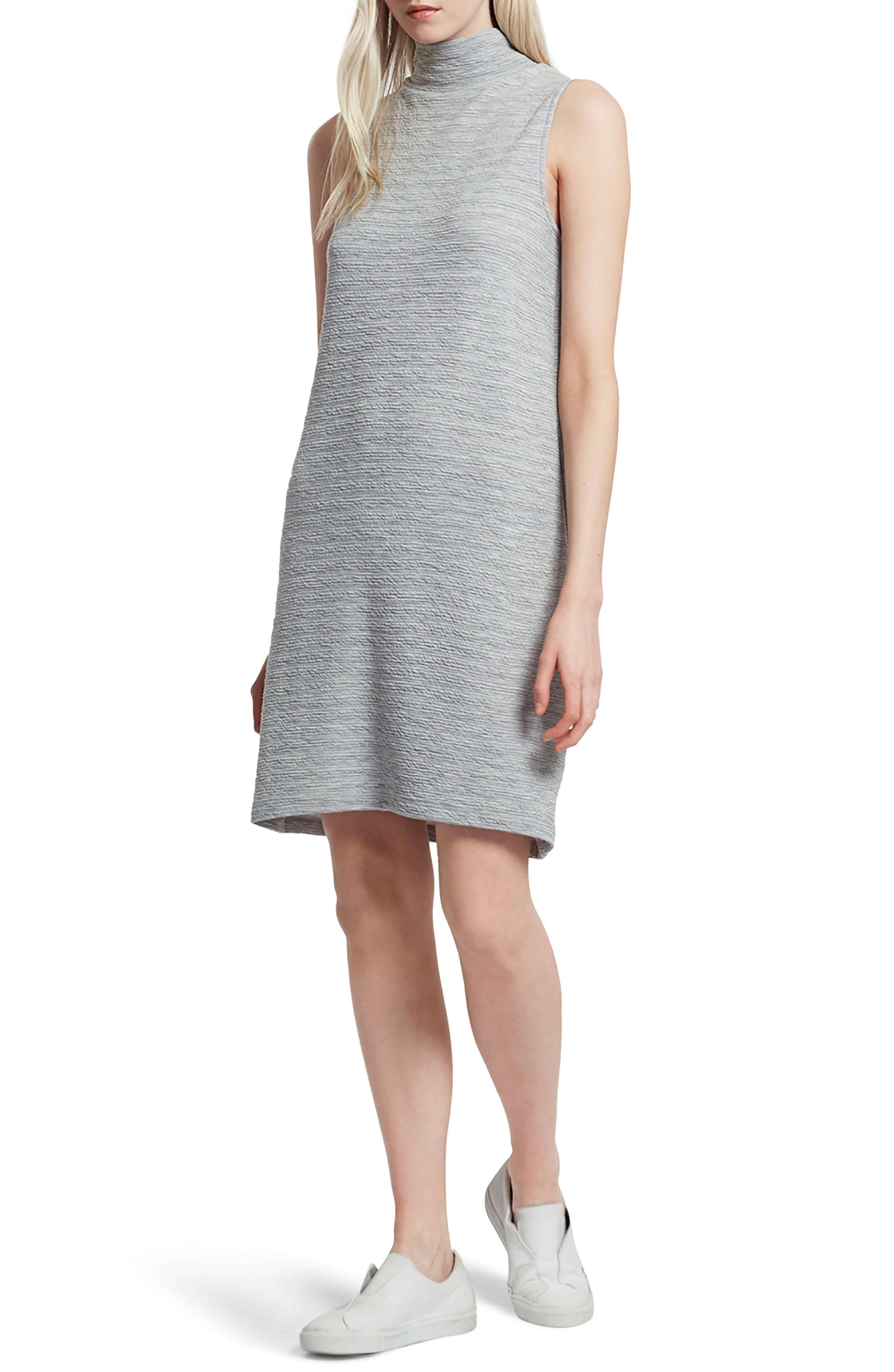 Sudan Mock Neck Dress,                         Main,                         color, Mid Grey